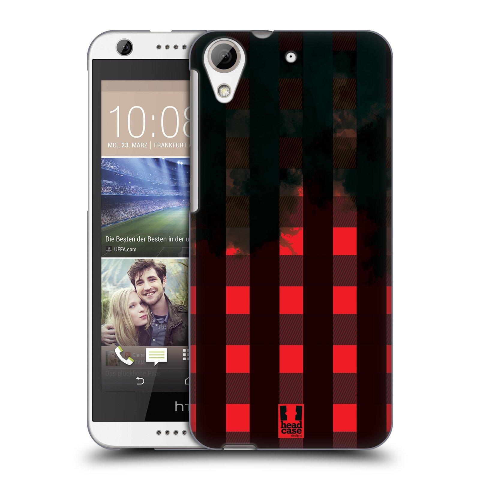 Plastové pouzdro na mobil HTC Desire 626 / 626G HEAD CASE FLANEL RED BLACK (Kryt či obal na mobilní telefon HTC Desire 626G Dual SIM a HTC Desire 626)