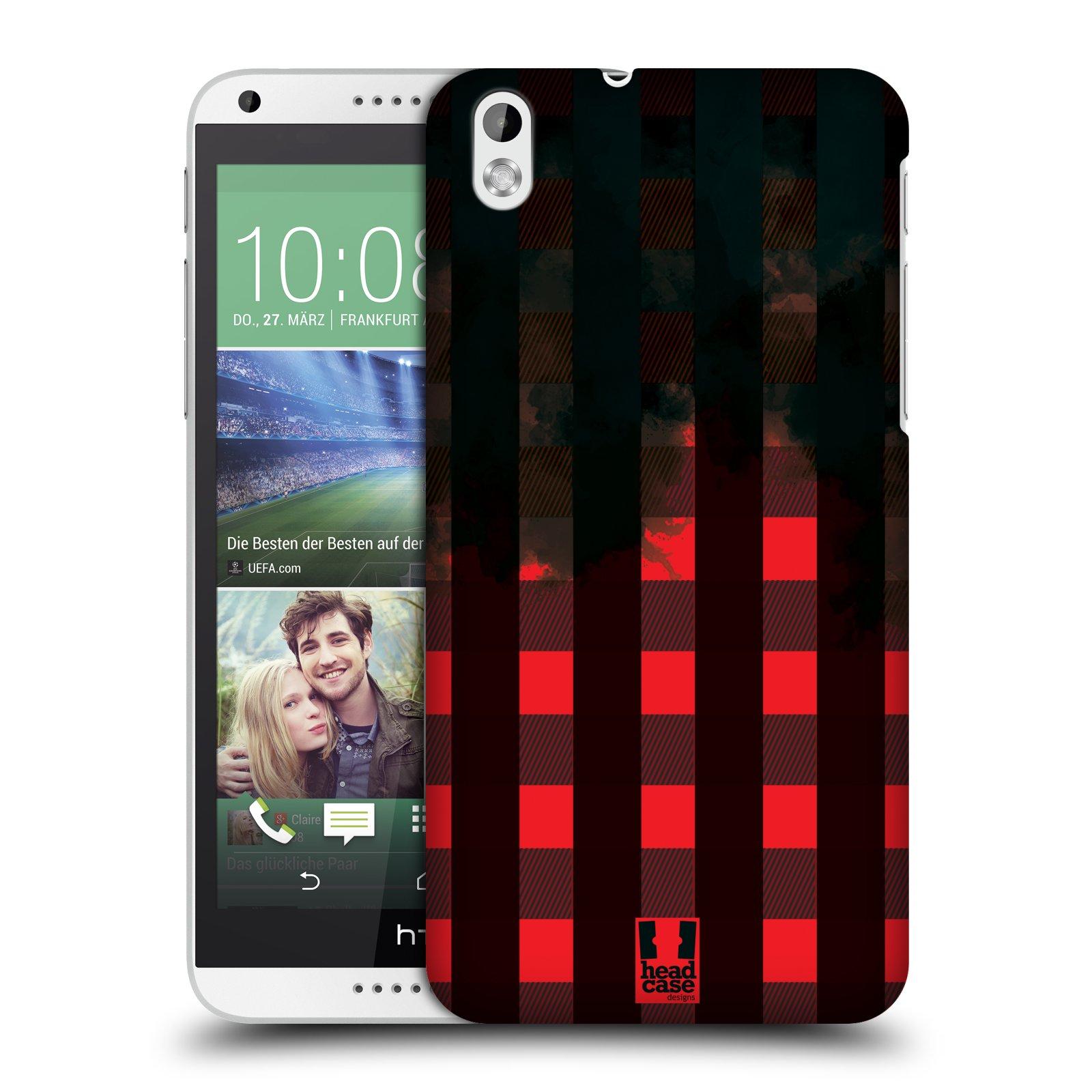 Plastové pouzdro na mobil HTC Desire 816 HEAD CASE FLANEL RED BLACK (Kryt či obal na mobilní telefon HTC Desire 816)