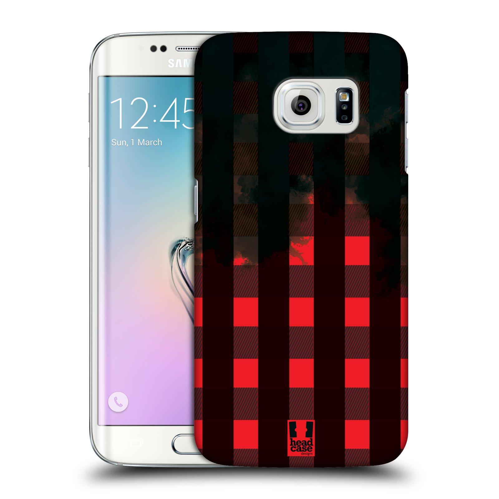 Plastové pouzdro na mobil Samsung Galaxy S6 Edge HEAD CASE FLANEL RED BLACK (Kryt či obal na mobilní telefon Samsung Galaxy S6 Edge SM-G925F)