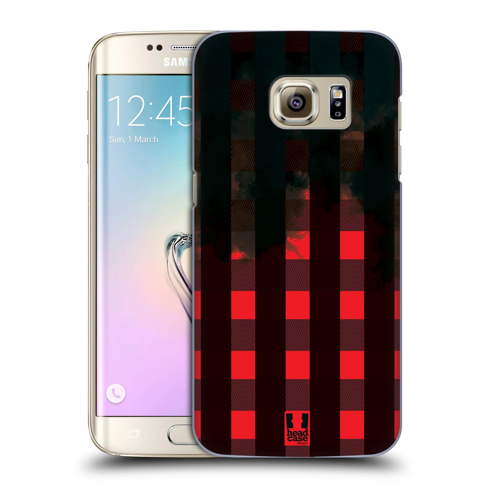Plastové pouzdro na mobil Samsung Galaxy S7 Edge HEAD CASE FLANEL RED BLACK (Kryt či obal na mobilní telefon Samsung Galaxy S7 Edge SM-G935F)