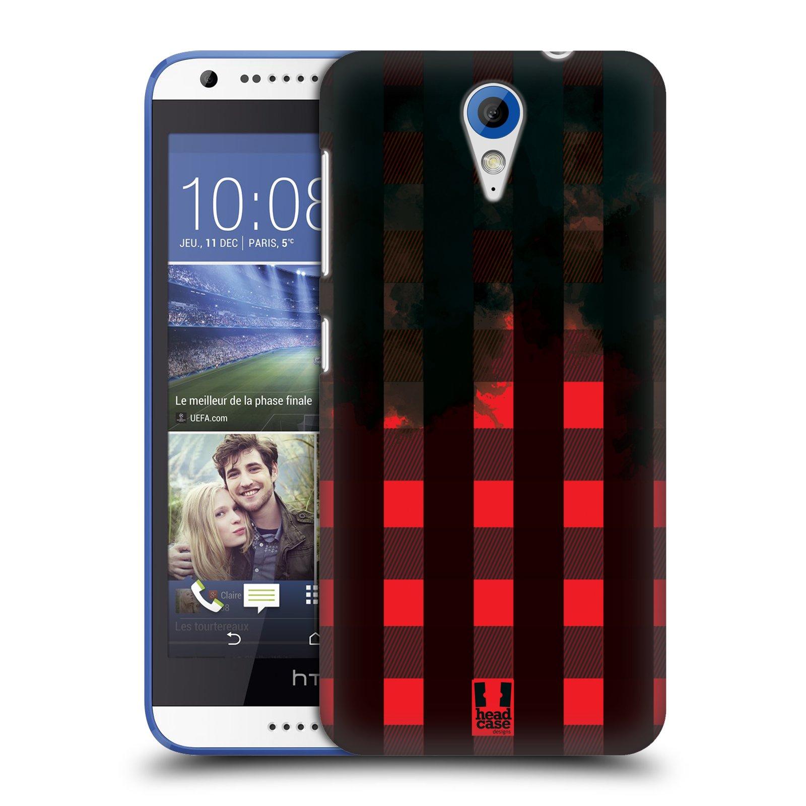 Plastové pouzdro na mobil HTC Desire 620 HEAD CASE FLANEL RED BLACK (Kryt či obal na mobilní telefon HTC Desire 620)