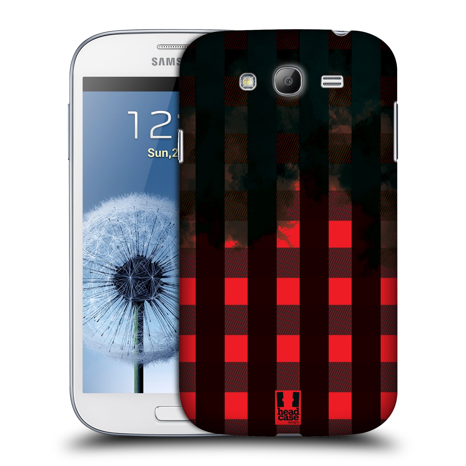 Plastové pouzdro na mobil Samsung Galaxy Grand Neo HEAD CASE FLANEL RED BLACK (Kryt či obal na mobilní telefon Samsung Galaxy Grand Neo GT-i9060)