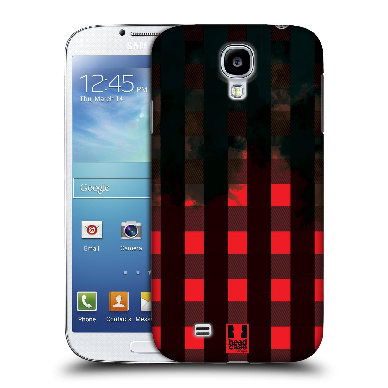 Plastové pouzdro na mobil Samsung Galaxy S4 HEAD CASE FLANEL RED BLACK (Kryt či obal na mobilní telefon Samsung Galaxy S4 GT-i9505 / i9500)