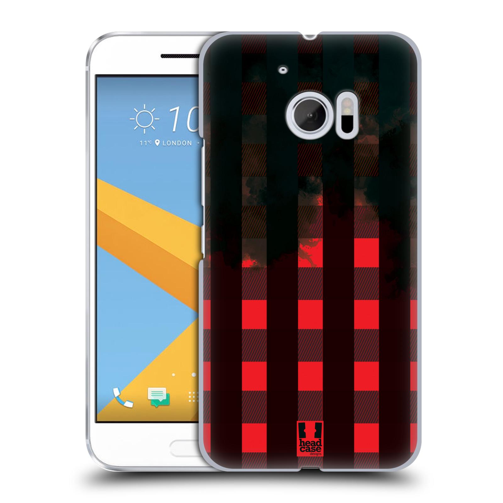 Plastové pouzdro na mobil HTC One 10 - Head Case - FLANEL RED BLACK (Plastový kryt či obal na mobilní telefon HTC One 10 (M10))