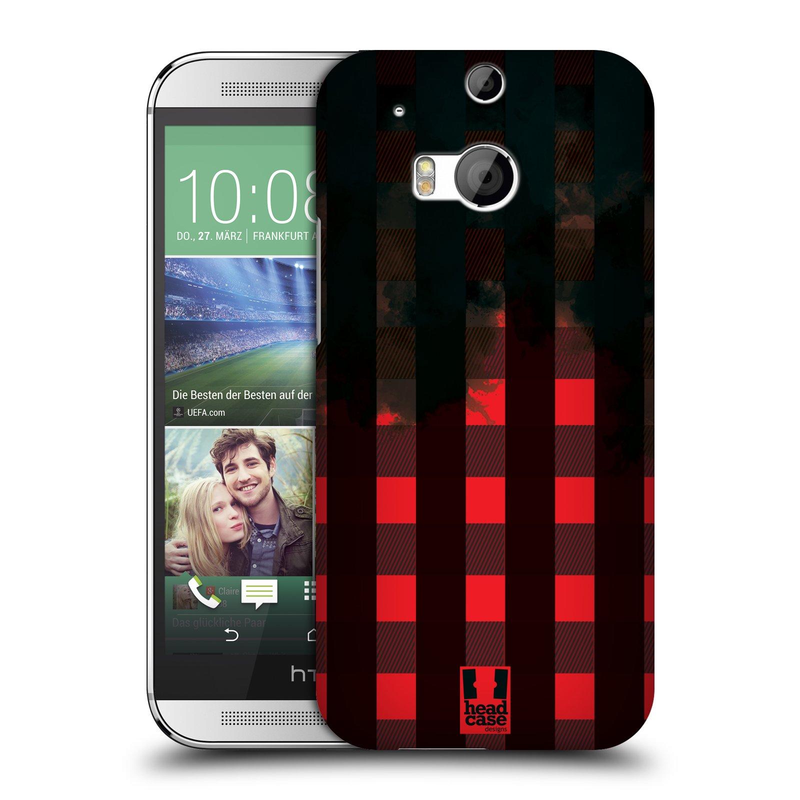 Plastové pouzdro na mobil HTC ONE M8 HEAD CASE FLANEL RED BLACK (Kryt či obal na mobilní telefon HTC ONE M8)