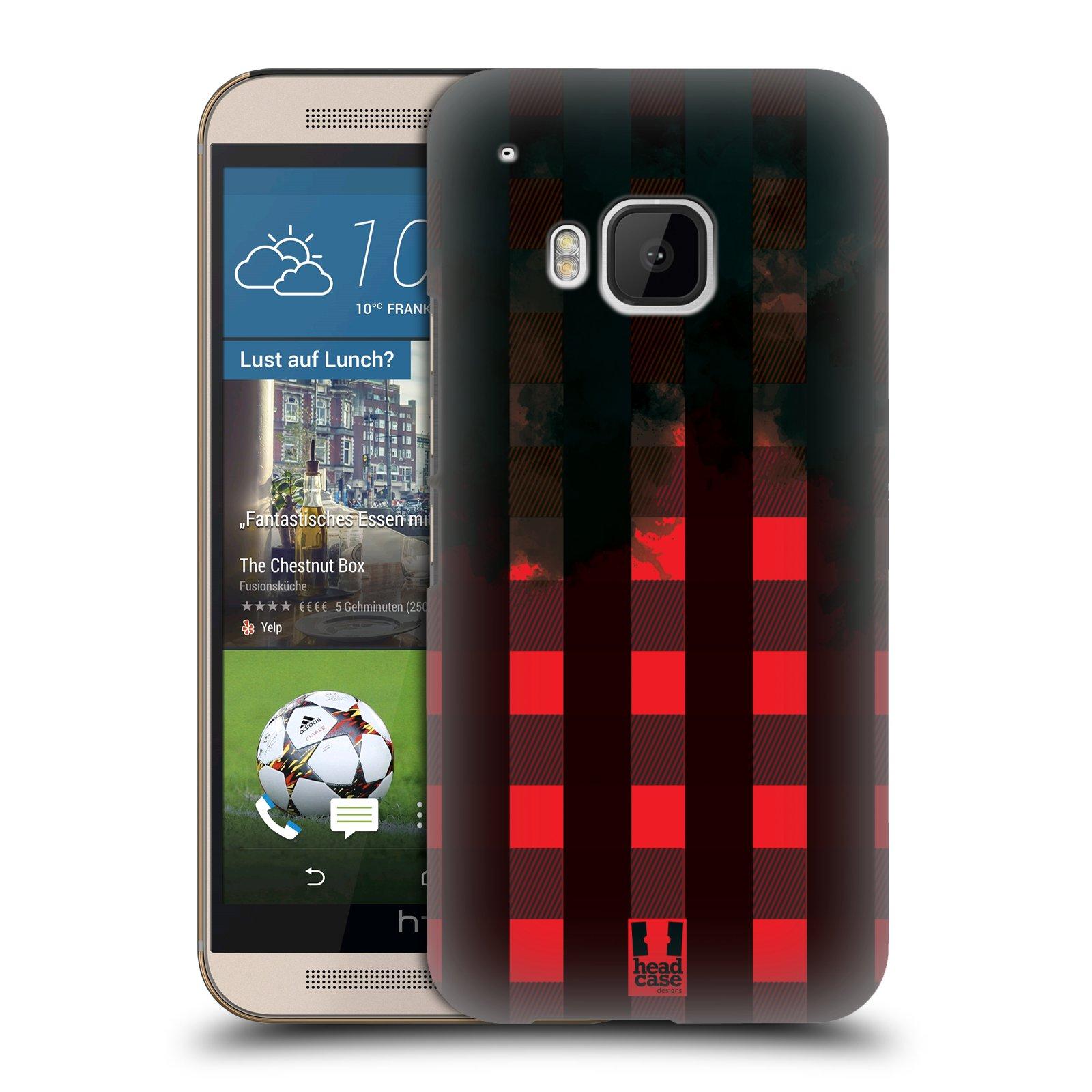 Plastové pouzdro na mobil HTC ONE M9 HEAD CASE FLANEL RED BLACK (Kryt či obal na mobilní telefon HTC ONE M9)