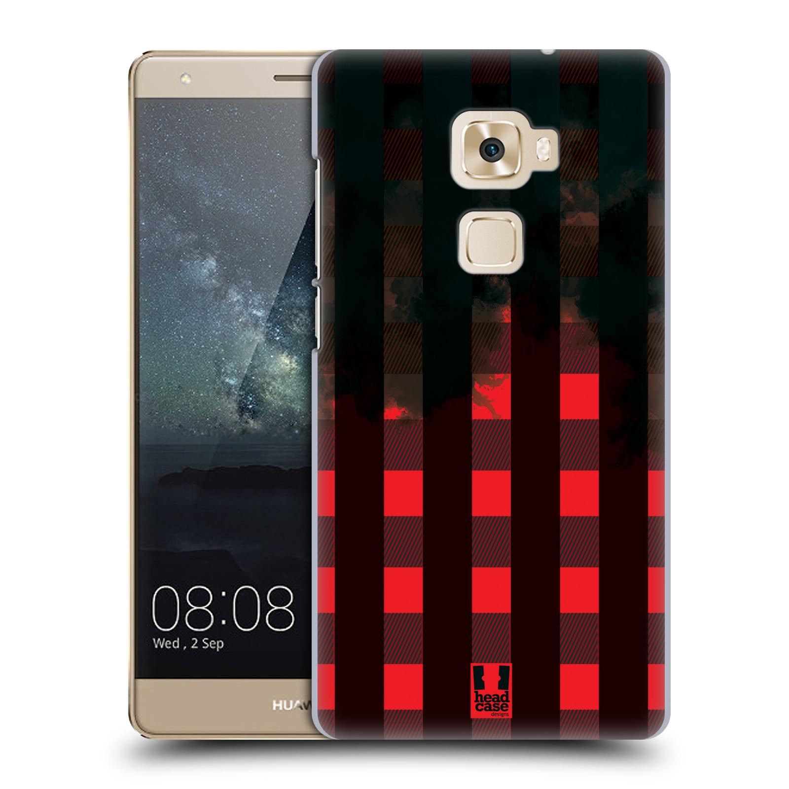 Plastové pouzdro na mobil Huawei Mate S HEAD CASE FLANEL RED BLACK (Plastový kryt či obal na mobilní telefon Huawei Mate S)