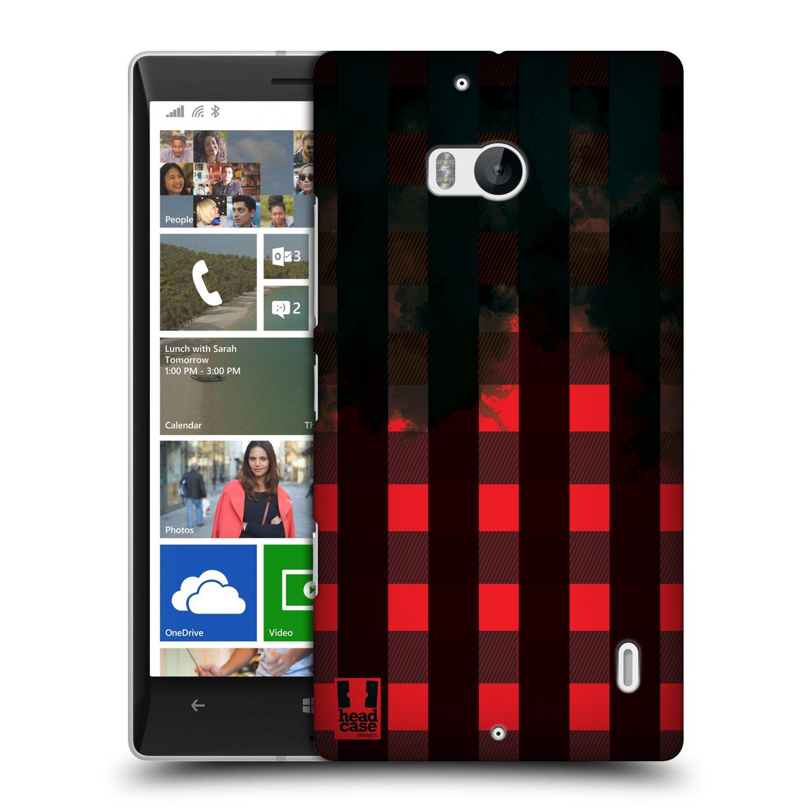 Plastové pouzdro na mobil Nokia Lumia 930 HEAD CASE FLANEL RED BLACK (Kryt či obal na mobilní telefon Nokia Lumia 930)