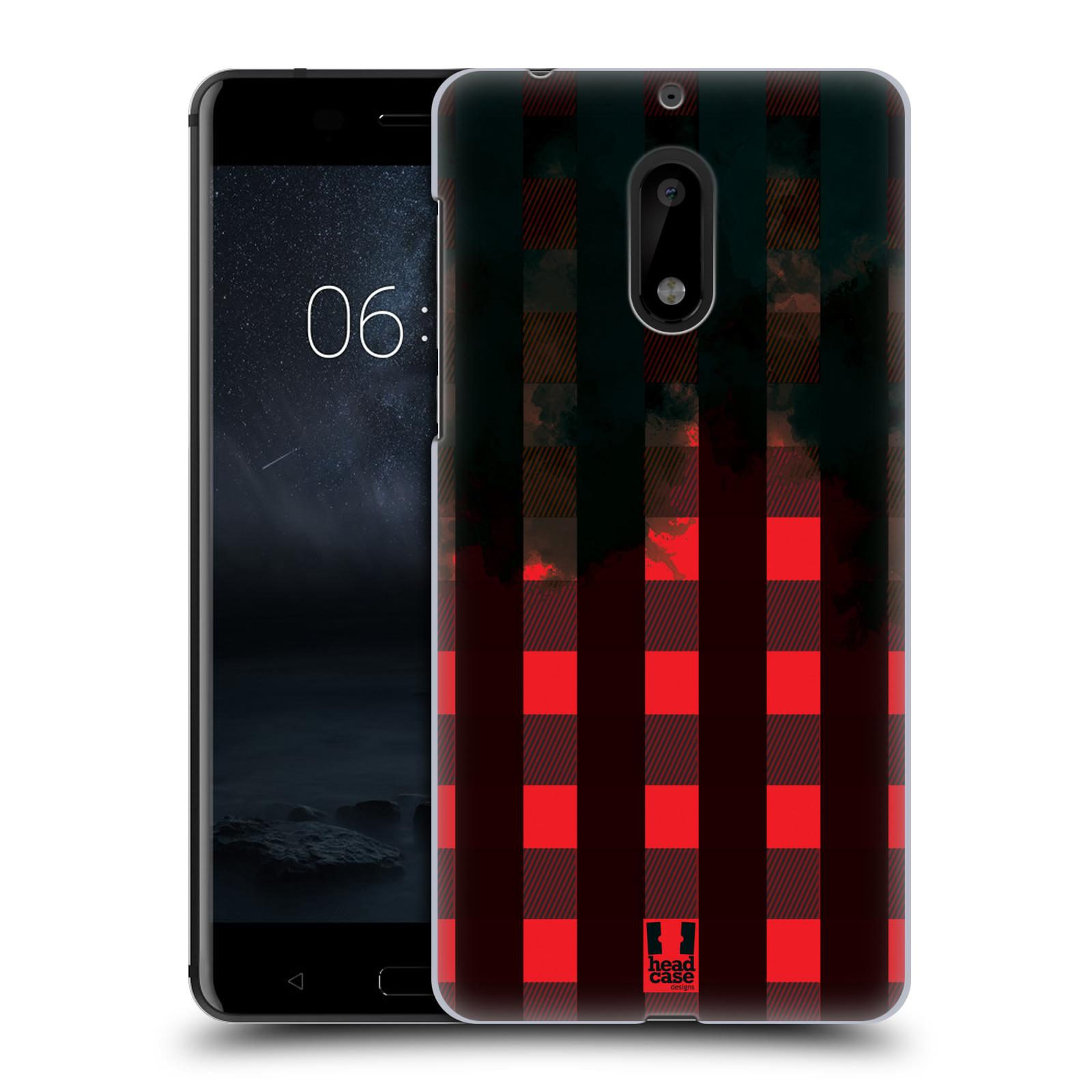 Plastové pouzdro na mobil Nokia 6 - Head Case FLANEL RED BLACK (Plastový kryt či obal na mobilní telefon Nokia 6 (Dual SIM))