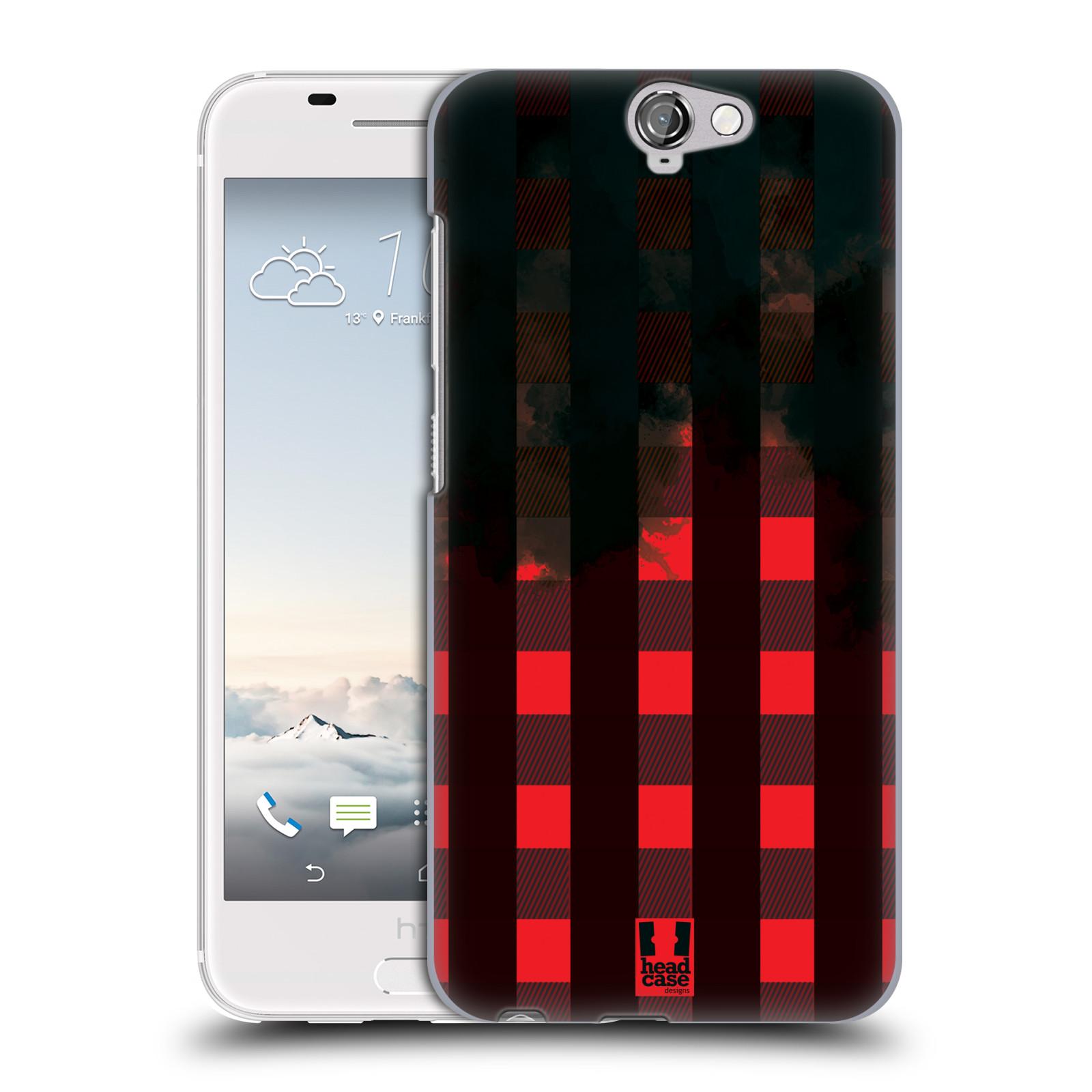 Plastové pouzdro na mobil HTC One A9 HEAD CASE FLANEL RED BLACK (Kryt či obal na mobilní telefon HTC One A9)