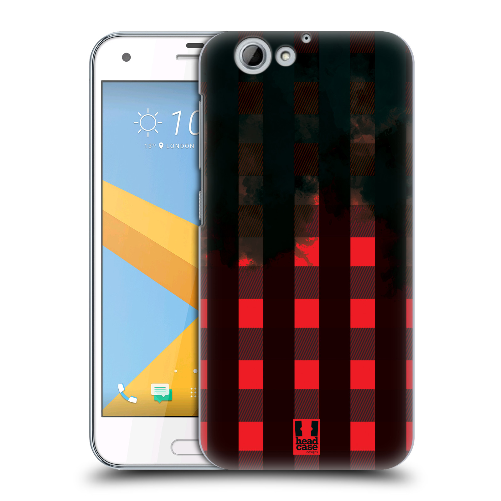 Plastové pouzdro na mobil HTC One A9s Head Case - FLANEL RED BLACK