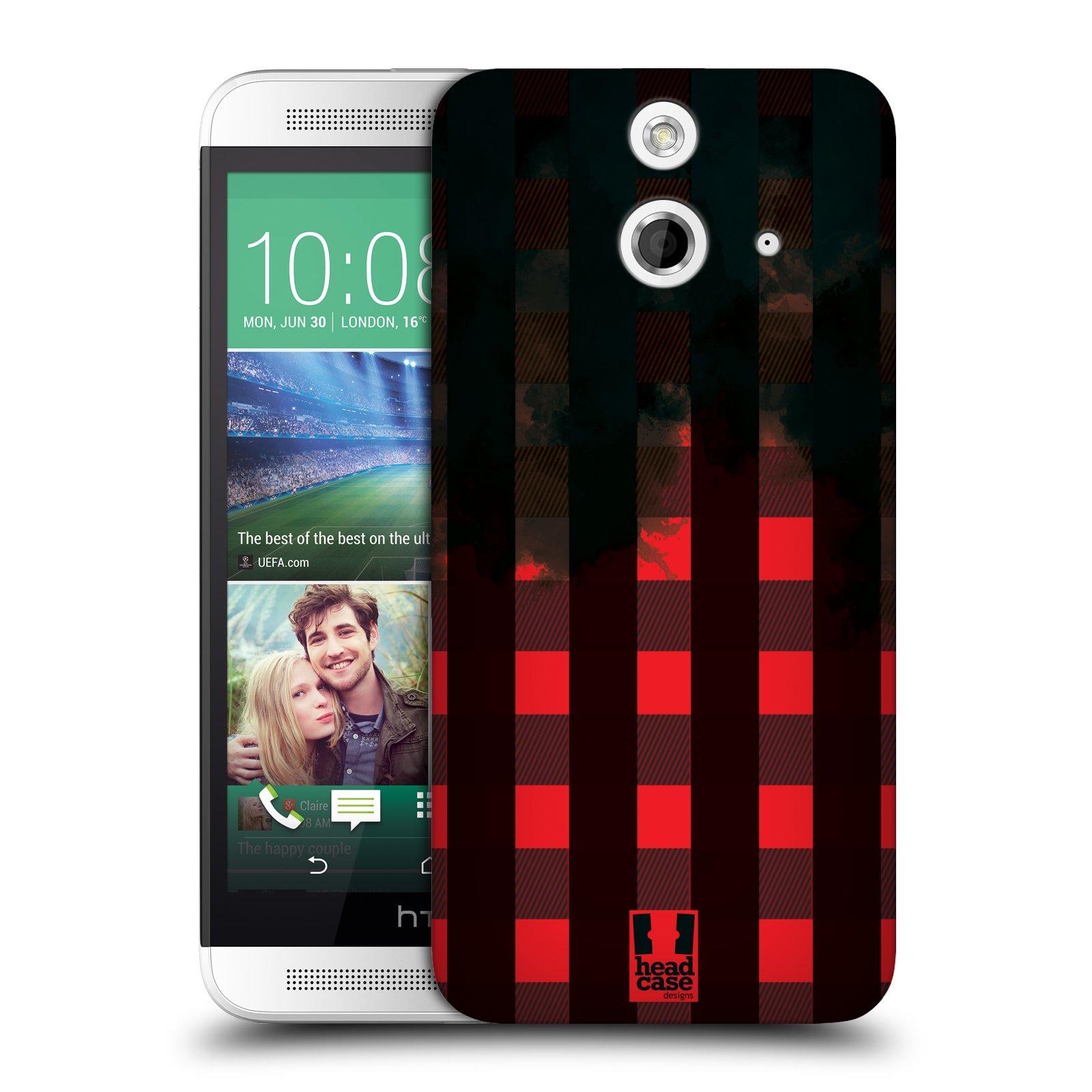 Plastové pouzdro na mobil HTC ONE E8 HEAD CASE FLANEL RED BLACK (Kryt či obal na mobilní telefon HTC ONE E8)