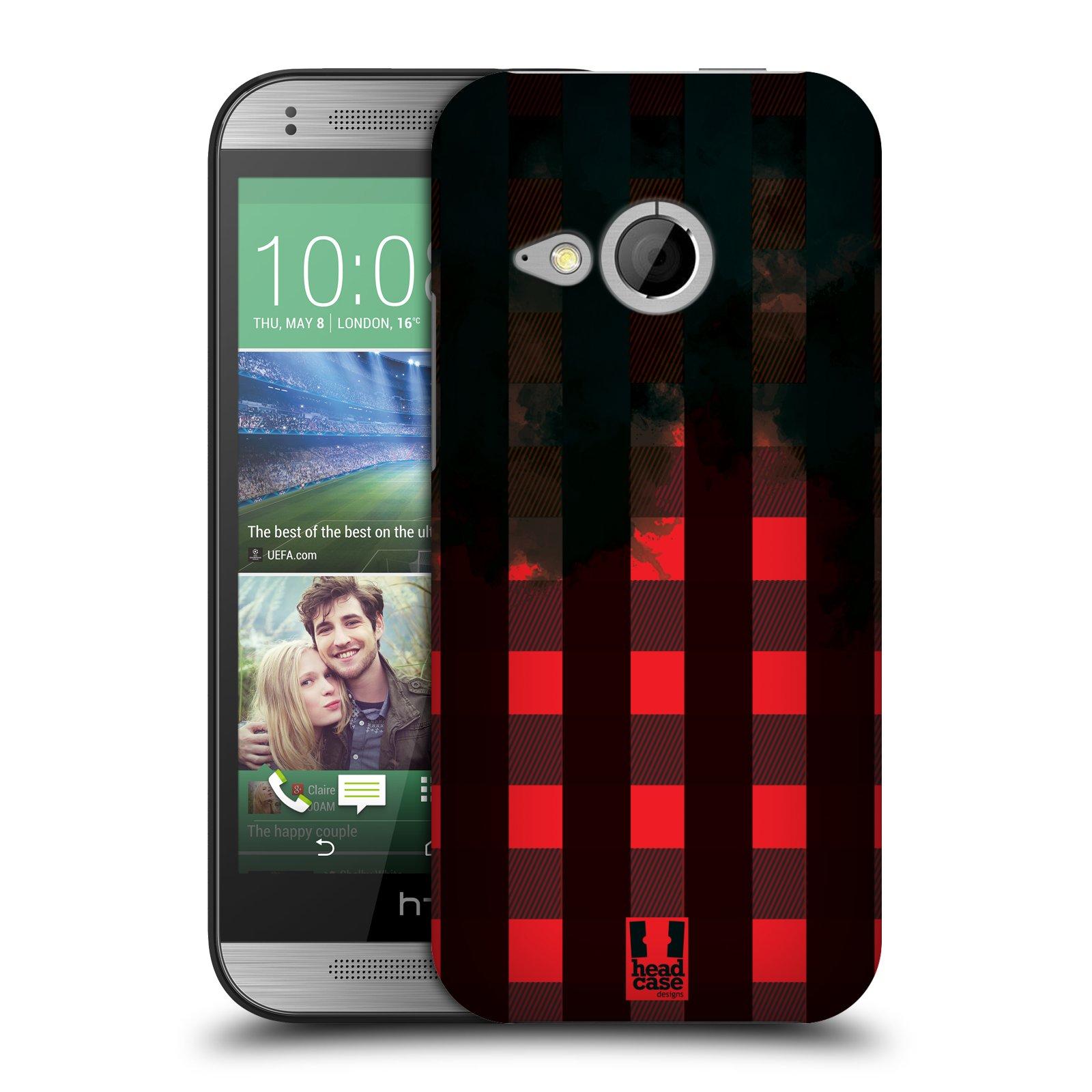 Plastové pouzdro na mobil HTC ONE Mini 2 HEAD CASE FLANEL RED BLACK (Kryt či obal na mobilní telefon HTC ONE Mini 2)
