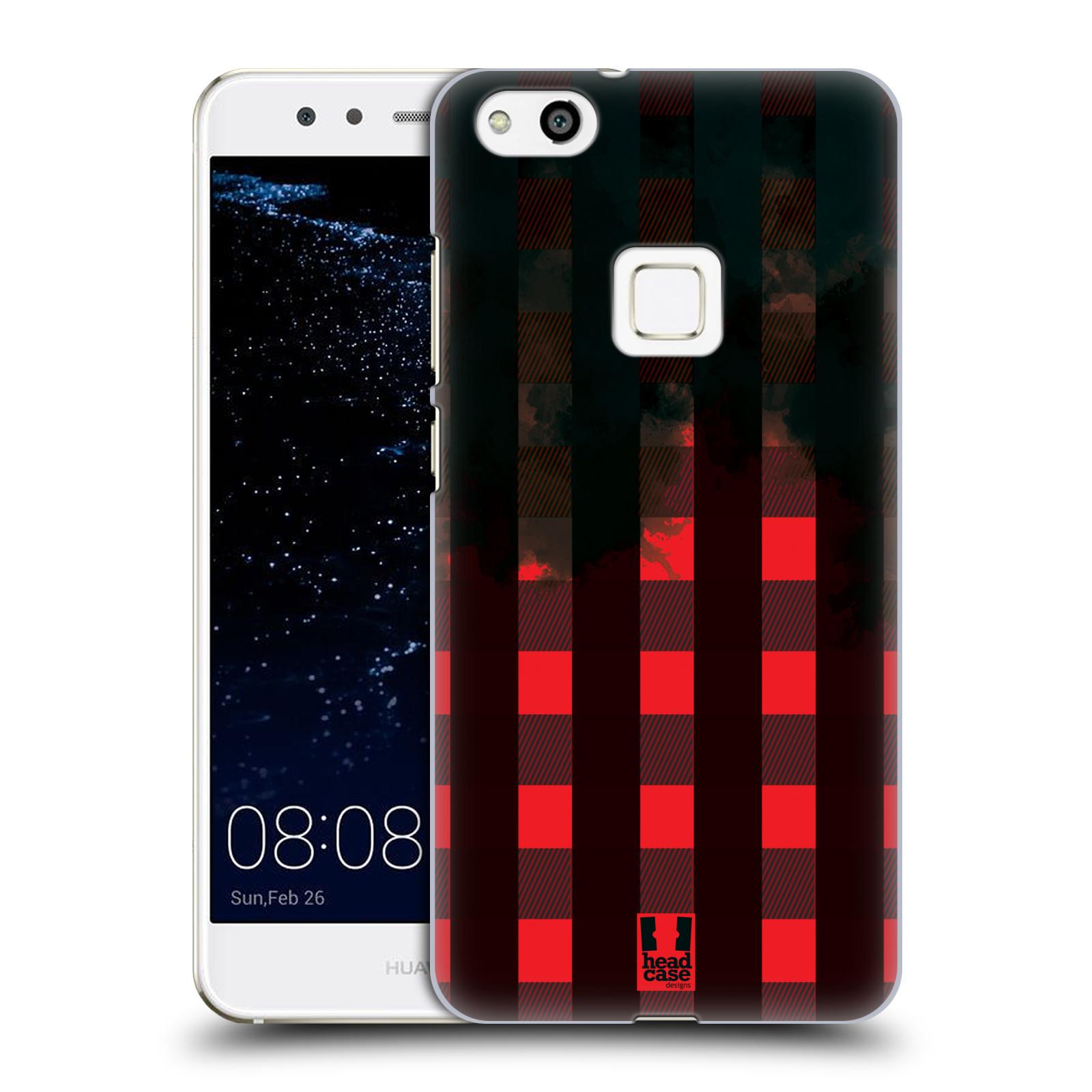 Plastové pouzdro na mobil Huawei P10 Lite Head Case - FLANEL RED BLACK (Plastový kryt či obal na mobilní telefon Huawei P10 Lite Dual SIM (LX1/LX1A))