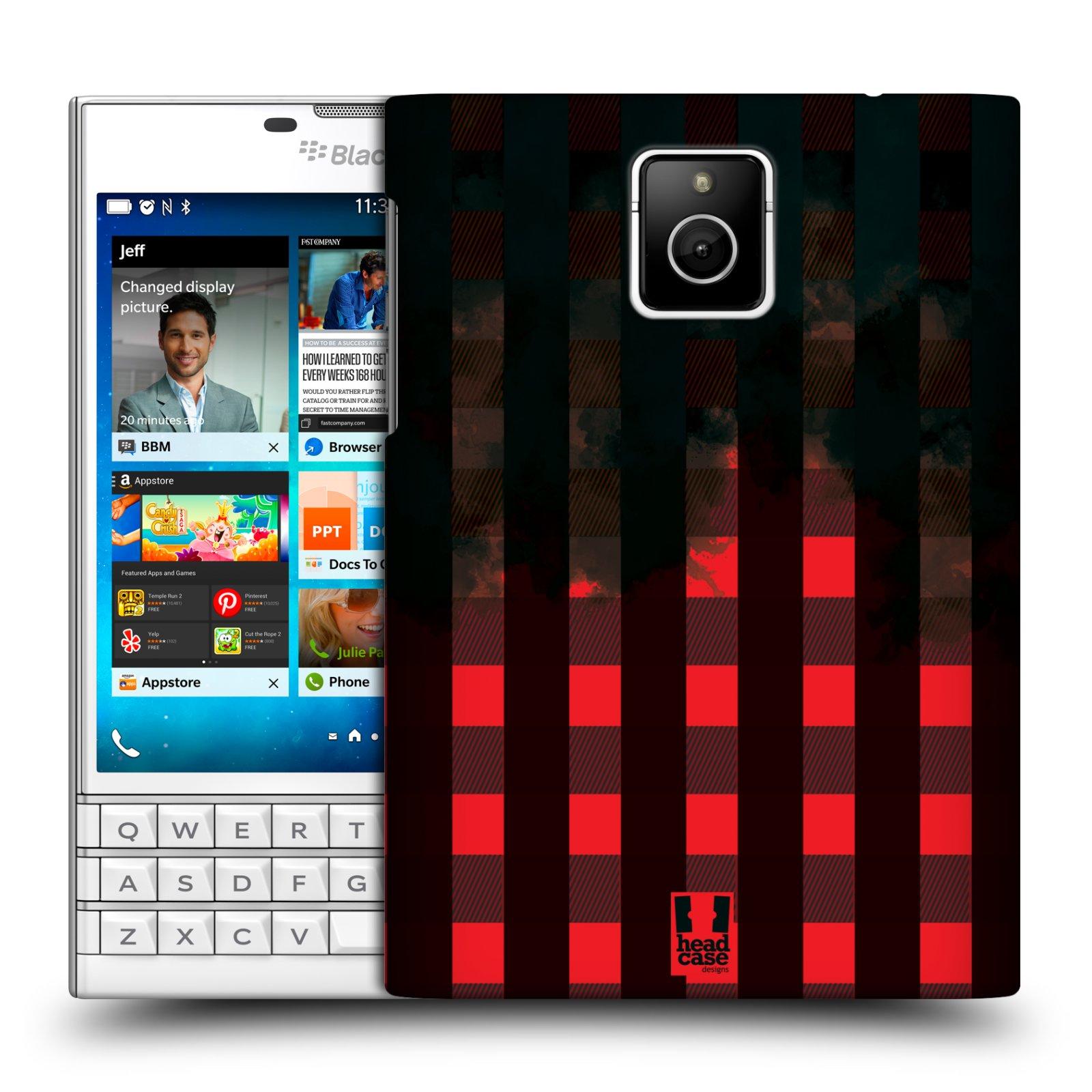 Plastové pouzdro na mobil Blackberry PASSPORT HEAD CASE FLANEL RED BLACK (Kryt či obal na mobilní telefon Blackberry PASSPORT)