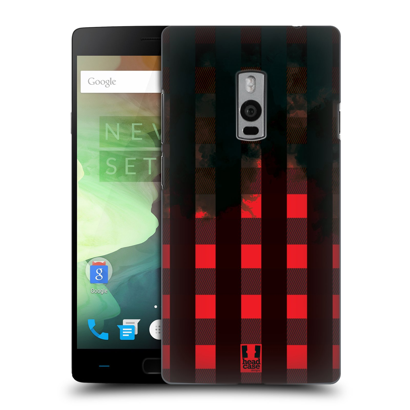 Plastové pouzdro na mobil OnePlus Two HEAD CASE FLANEL RED BLACK (Kryt či obal na mobilní telefon OnePlus Two)