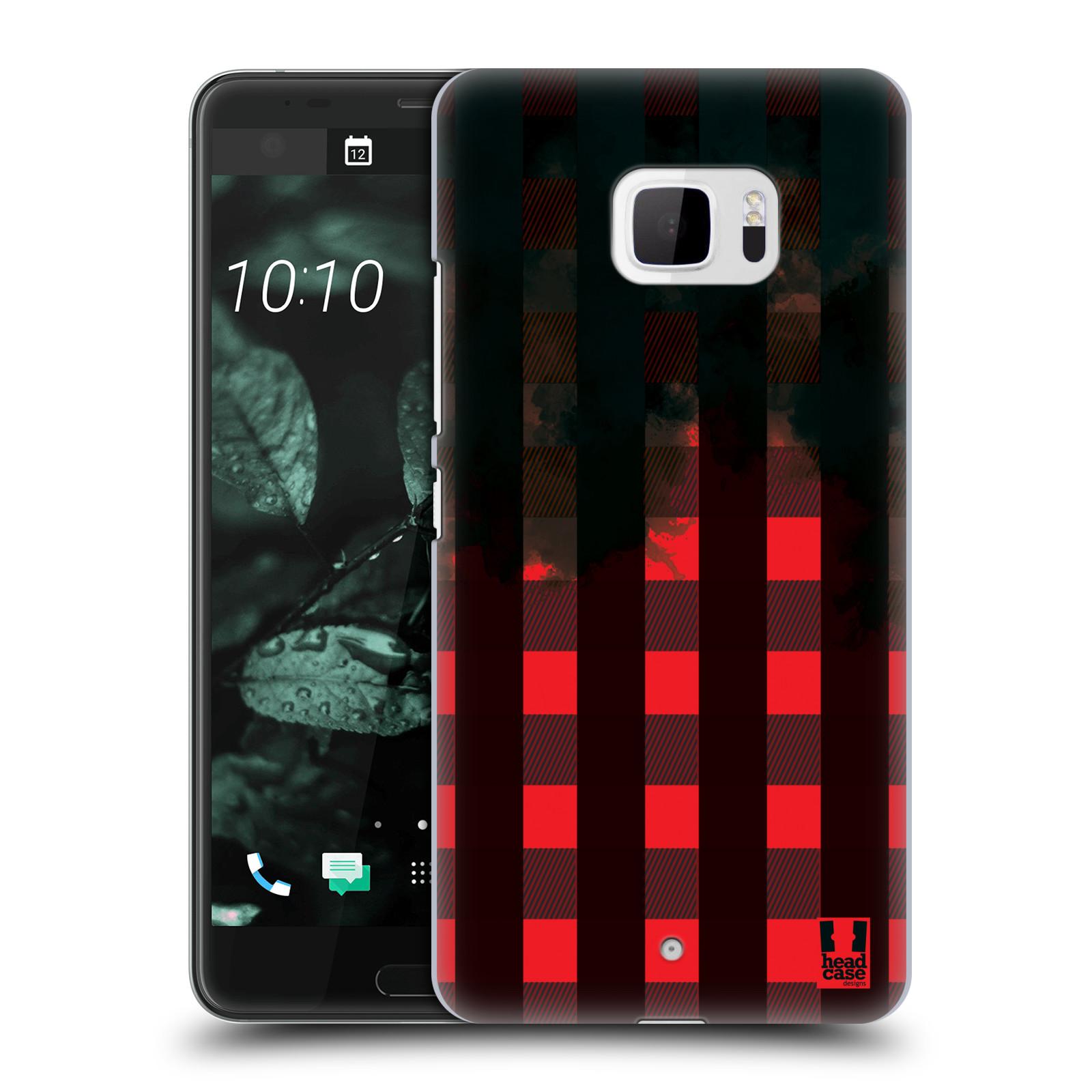 Plastové pouzdro na mobil HTC U Ultra Head Case - FLANEL RED BLACK (Plastový kryt či obal na mobilní telefon HTC U Ultra (99HALT015-00))