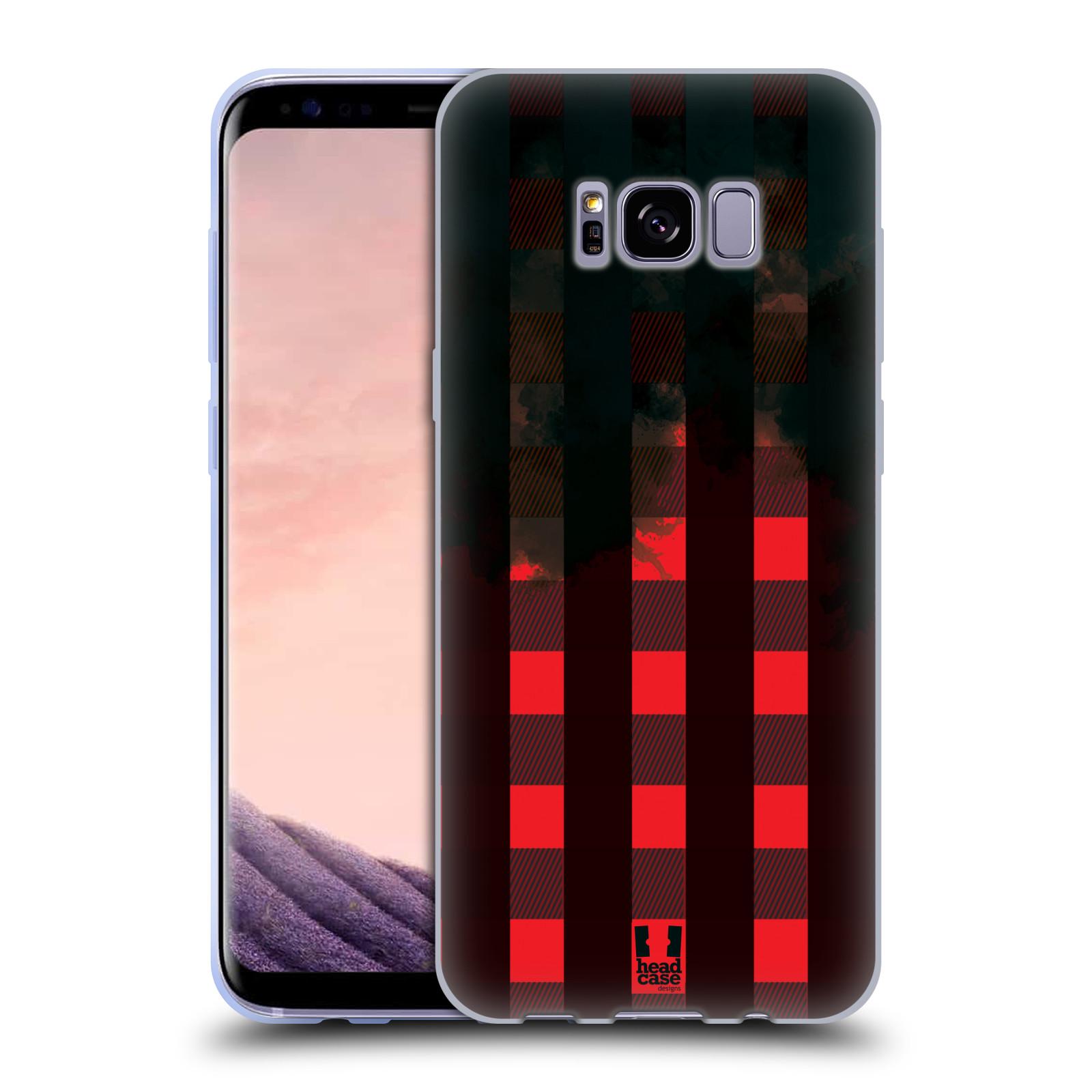 Silikonové pouzdro na mobil Samsung Galaxy S8+ (Plus) Head Case FLANEL RED BLACK (Silikonový kryt či obal na mobilní telefon Samsung Galaxy S8+ (Plus) SM-G9550)