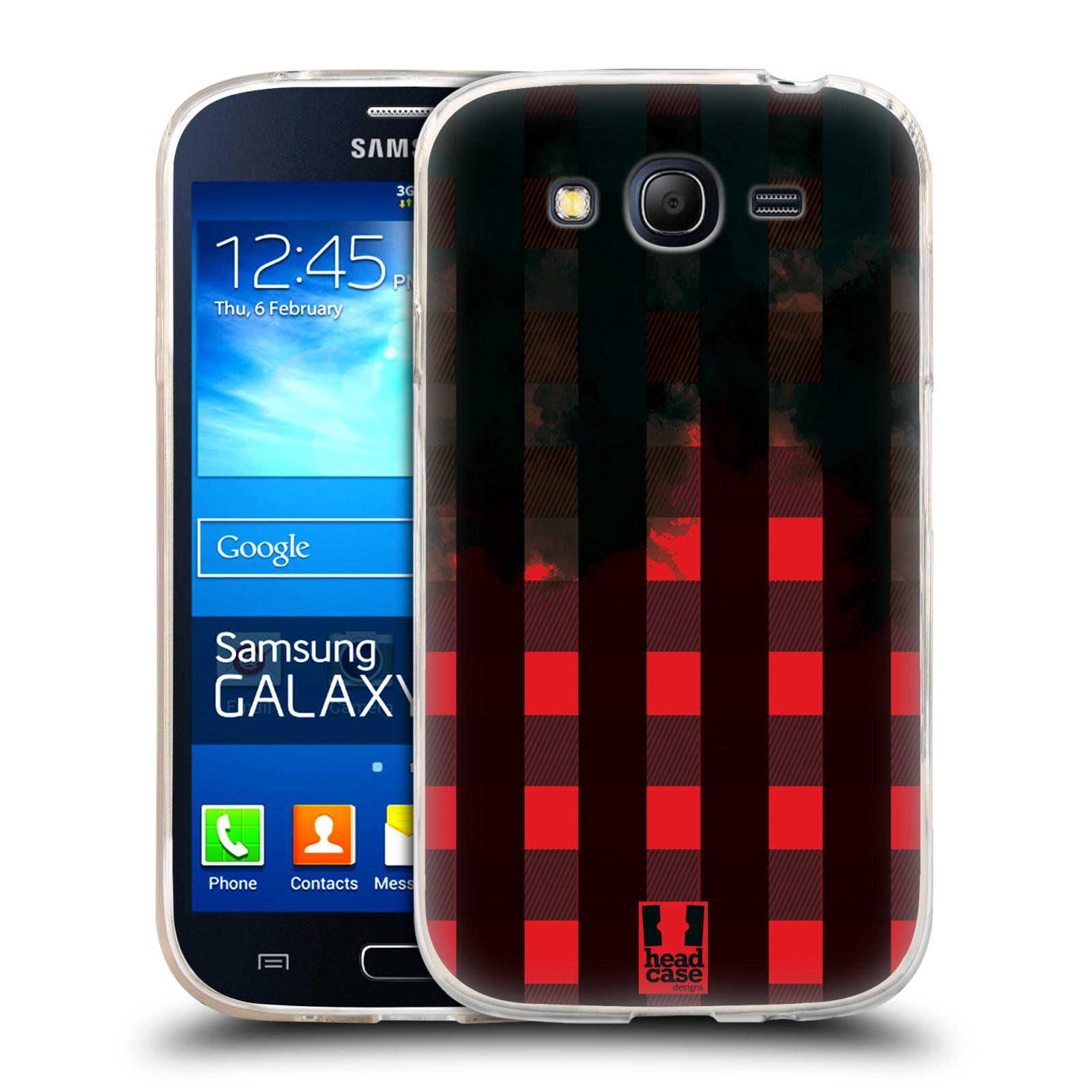 Silikonové pouzdro na mobil Samsung Galaxy Grand Neo HEAD CASE FLANEL RED BLACK (Silikonový kryt či obal na mobilní telefon Samsung Galaxy Grand Neo GT-I9060)