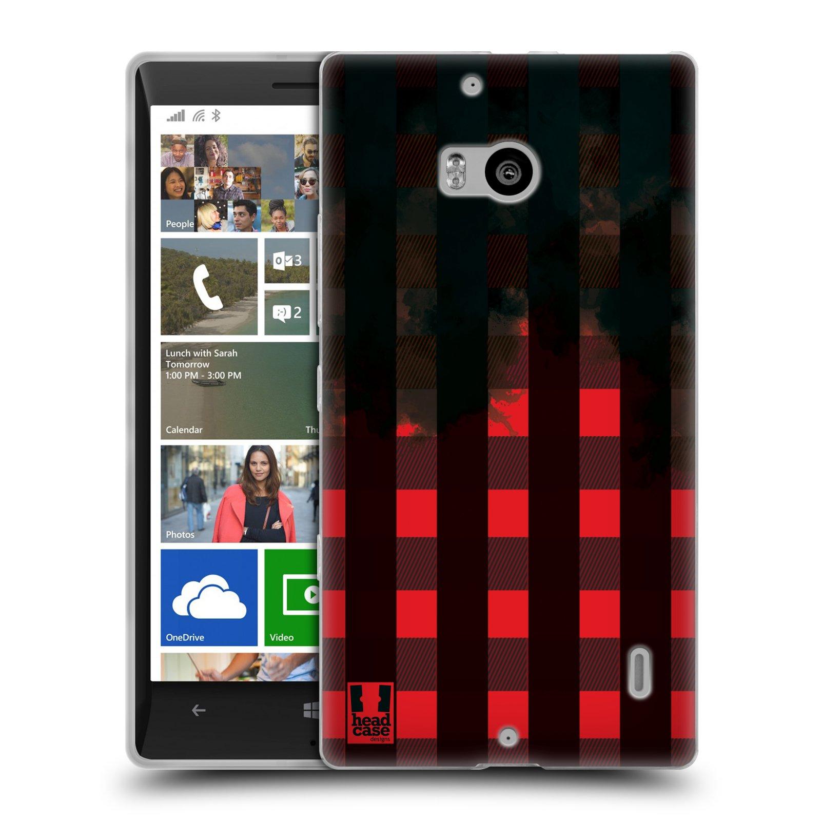 Silikonové pouzdro na mobil Nokia Lumia 930 HEAD CASE FLANEL RED BLACK (Silikonový kryt či obal na mobilní telefon Nokia Lumia 930)