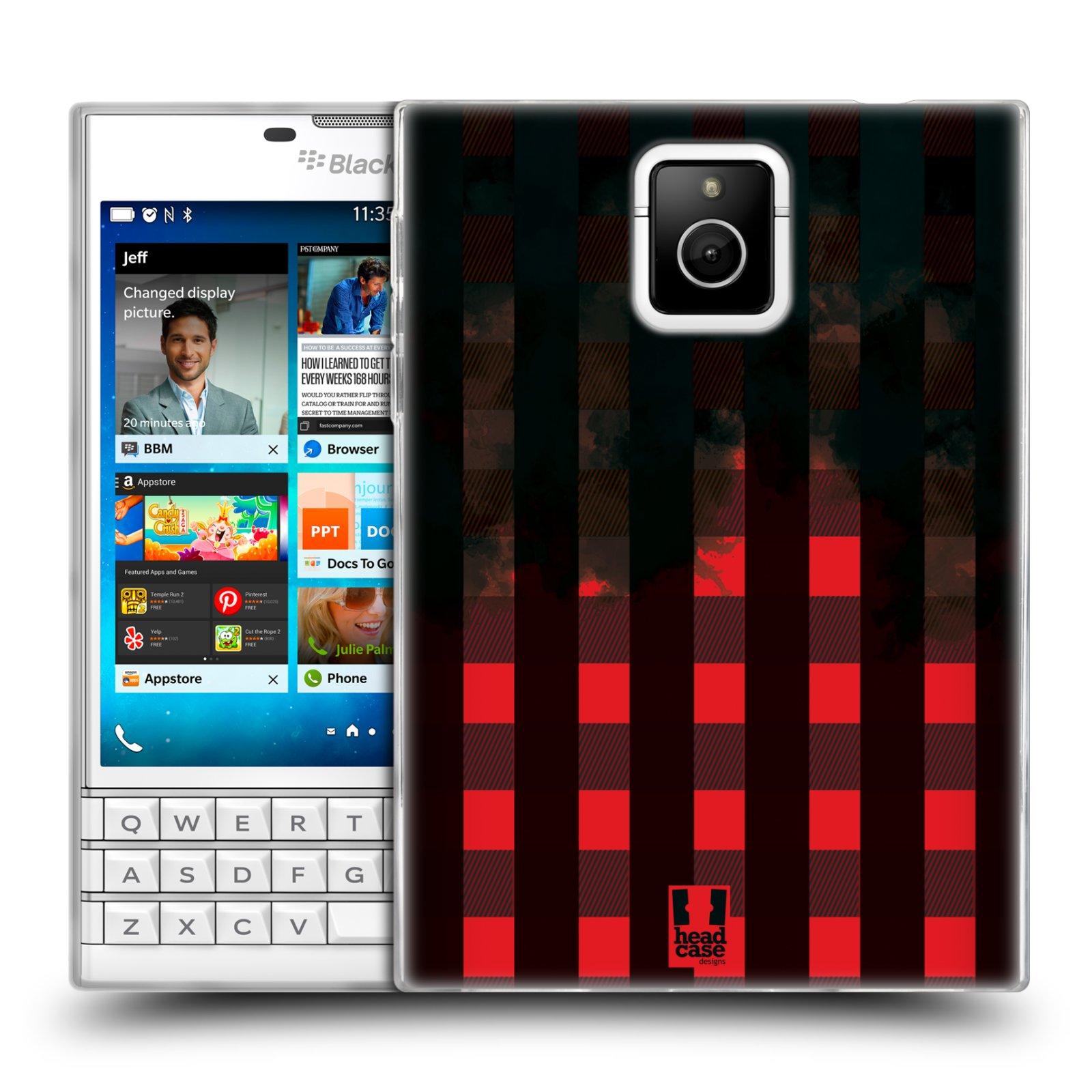 Silikonové pouzdro na mobil Blackberry PASSPORT HEAD CASE FLANEL RED BLACK (Silikonový kryt či obal na mobilní telefon Blackberry PASSPORT)