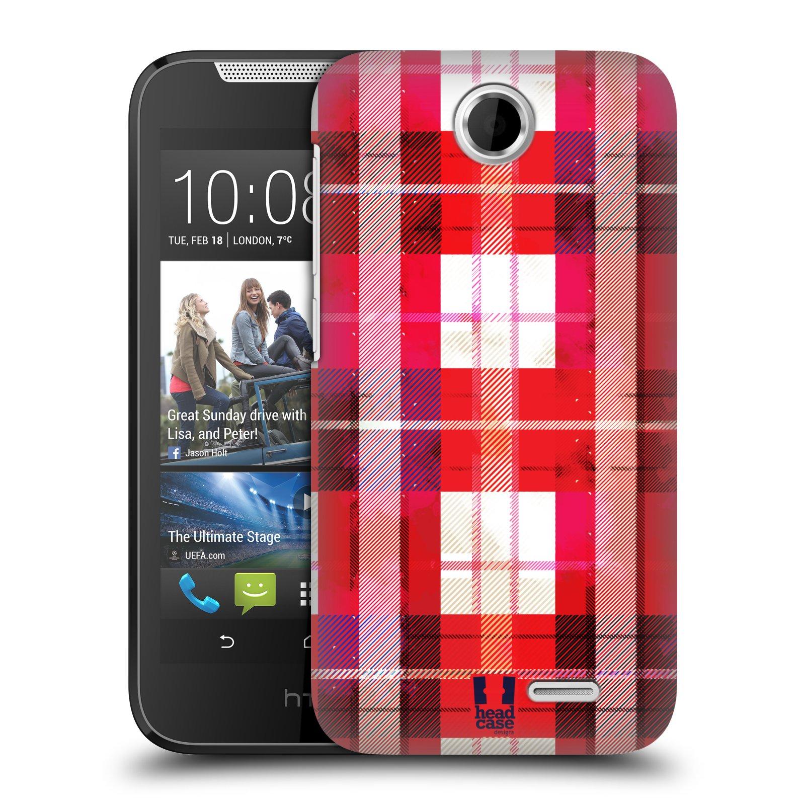 Plastové pouzdro na mobil HTC Desire 310 HEAD CASE FLANEL RED (Kryt či obal na mobilní telefon HTC Desire 310)