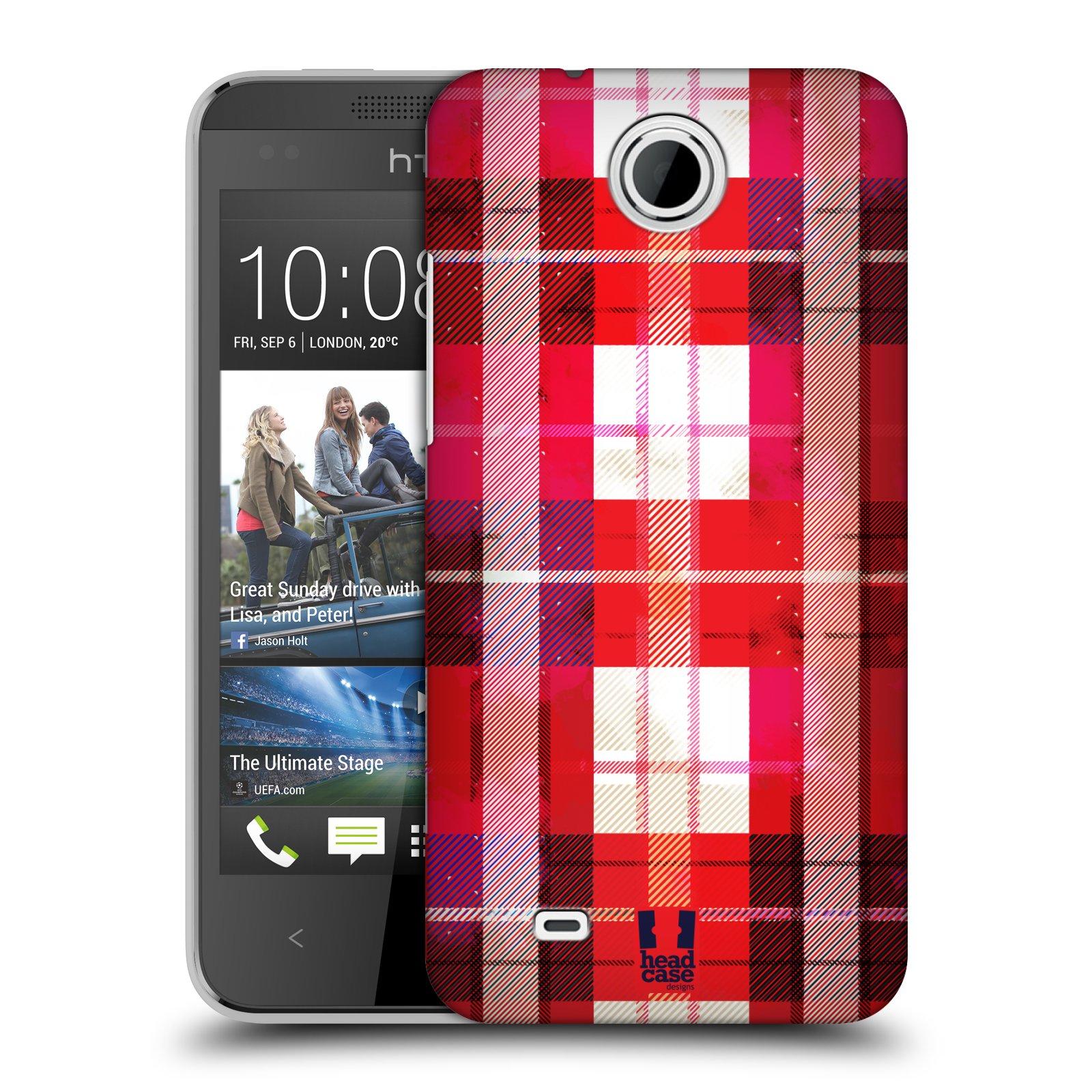 Plastové pouzdro na mobil HTC Desire 300 HEAD CASE FLANEL RED (Kryt či obal na mobilní telefon HTC Desire 300)