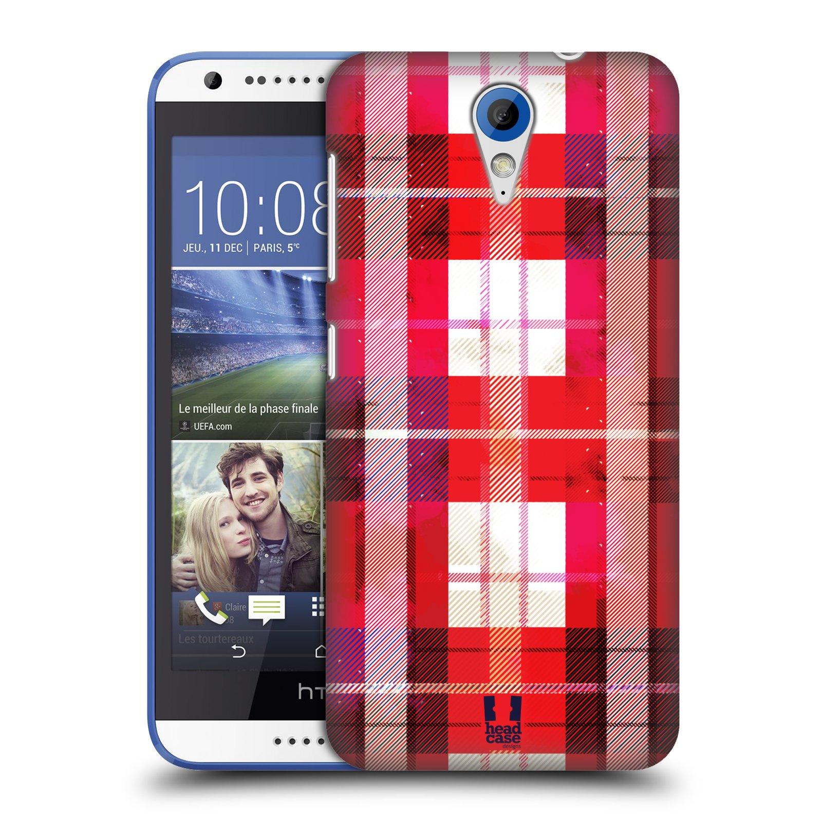 Plastové pouzdro na mobil HTC Desire 620 HEAD CASE FLANEL RED (Kryt či obal na mobilní telefon HTC Desire 620)