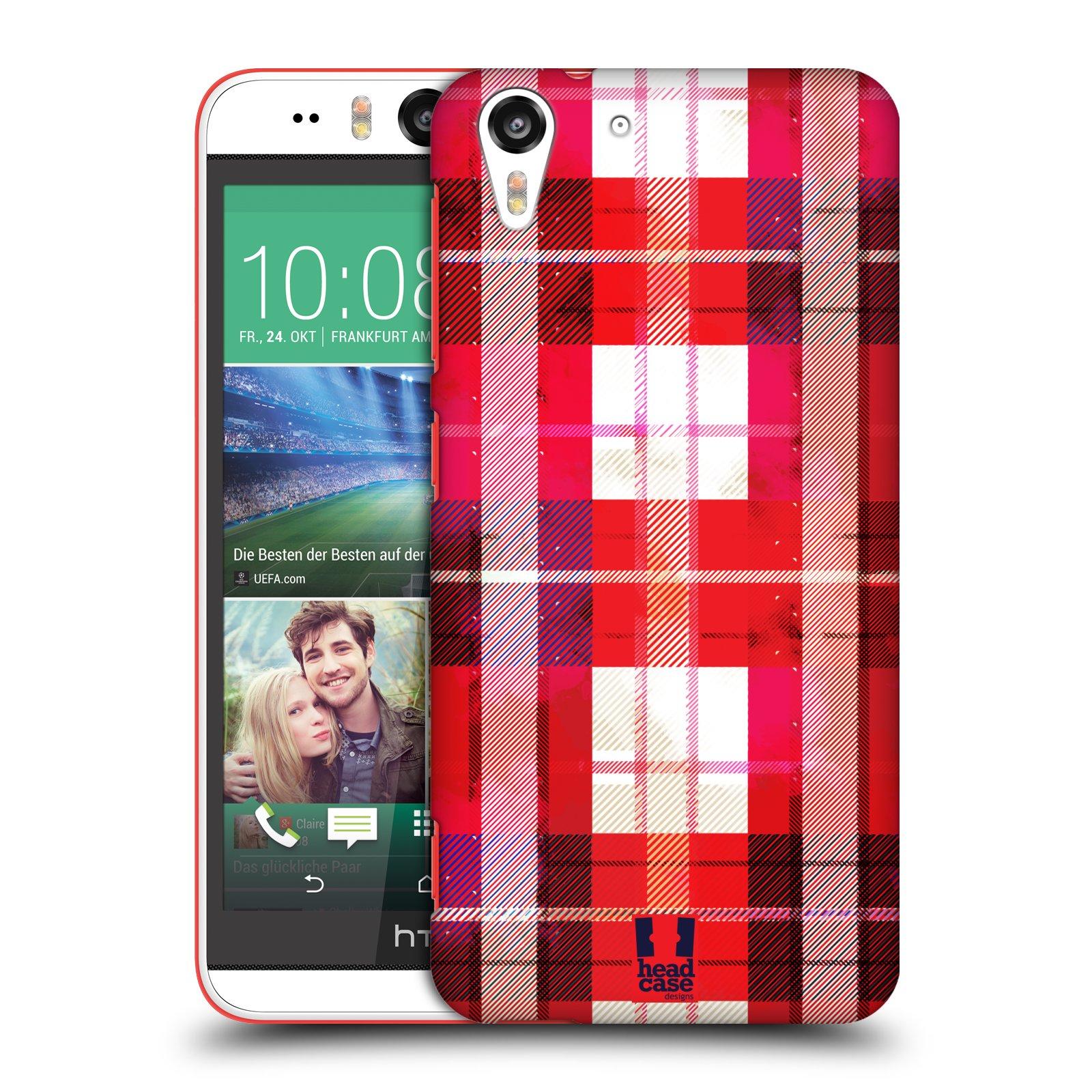 Plastové pouzdro na mobil HTC Desire EYE HEAD CASE FLANEL RED (Kryt či obal na mobilní telefon HTC Desire EYE)