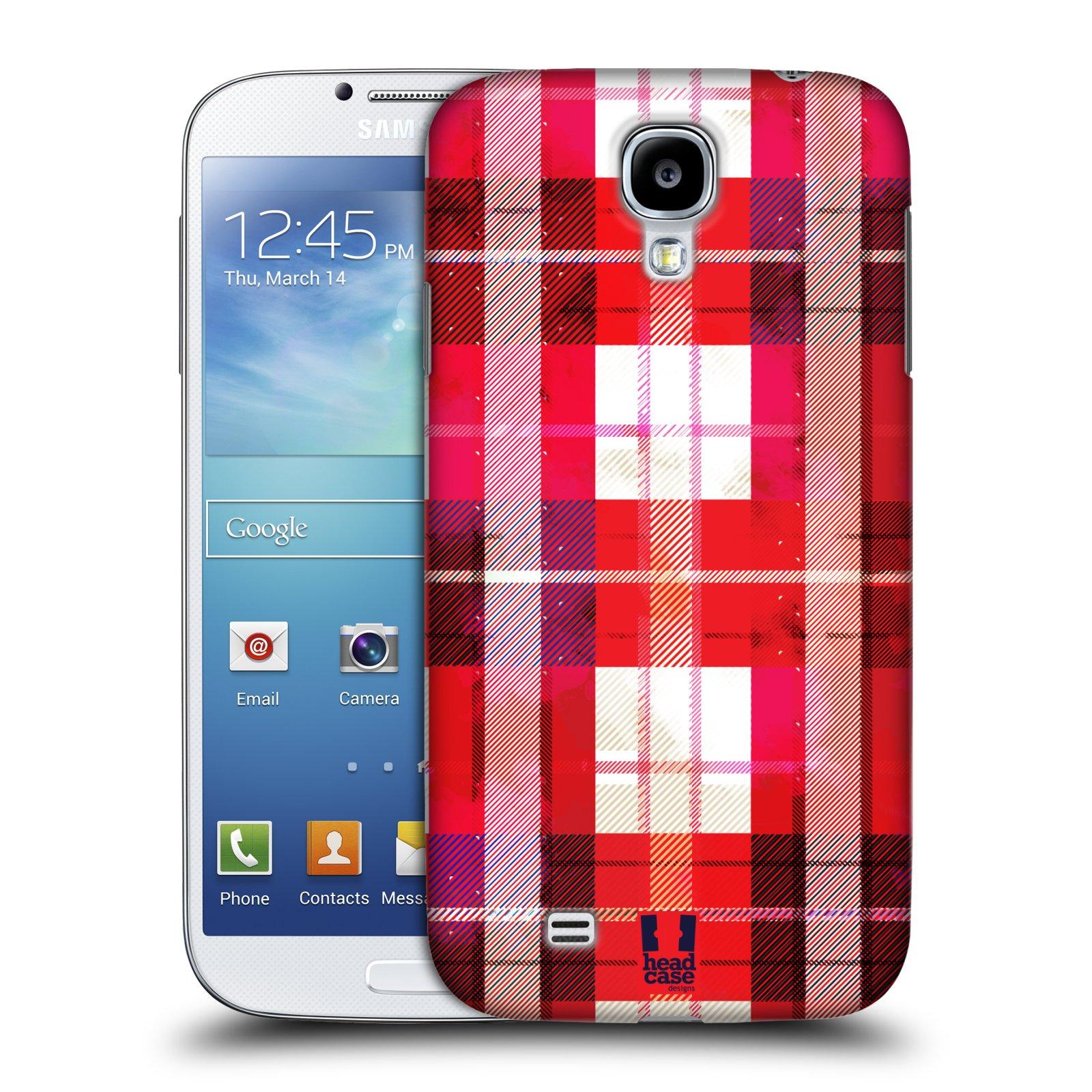 Plastové pouzdro na mobil Samsung Galaxy S4 HEAD CASE FLANEL RED (Kryt či obal na mobilní telefon Samsung Galaxy S4 GT-i9505 / i9500)