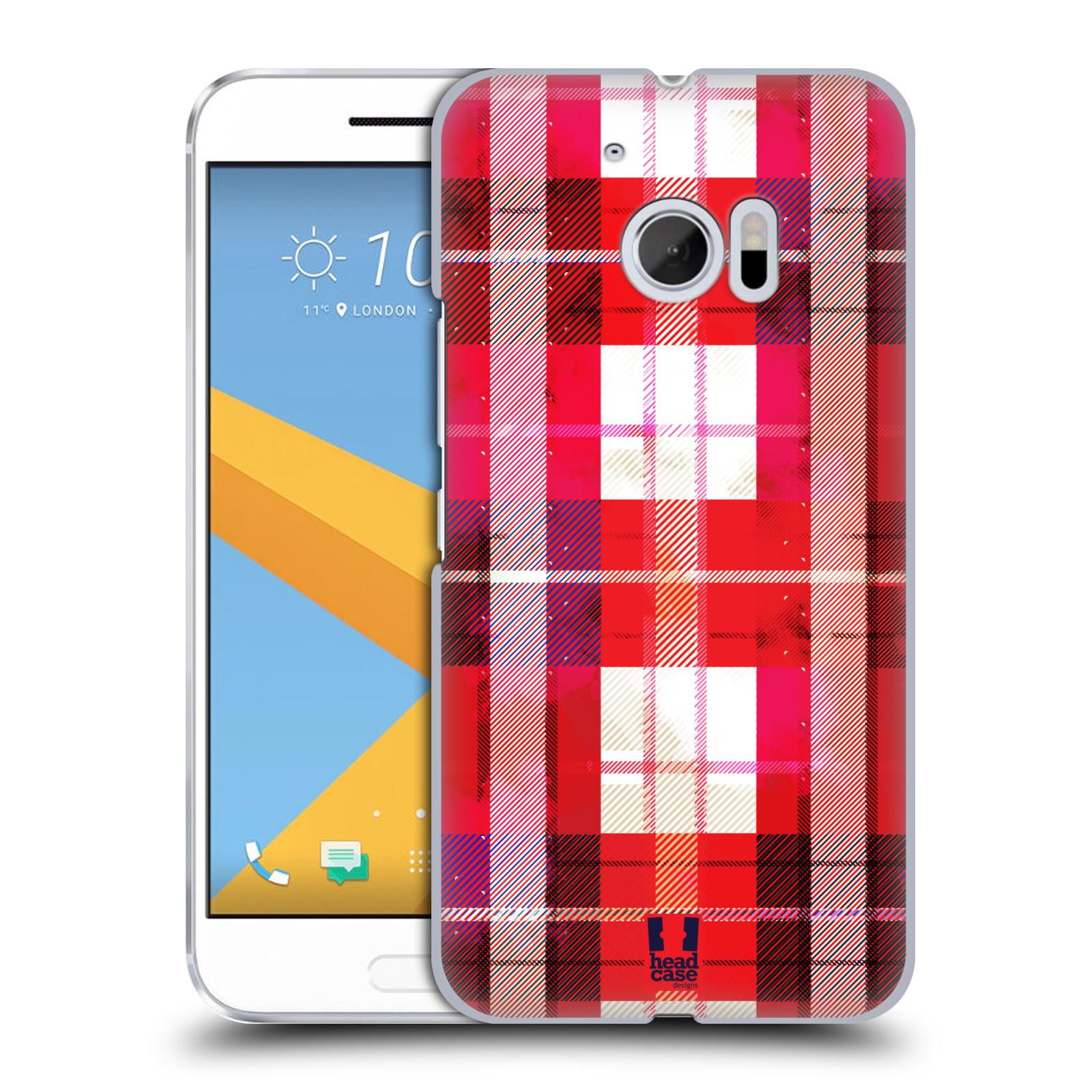 Plastové pouzdro na mobil HTC One 10 - Head Case - FLANEL RED (Plastový kryt či obal na mobilní telefon HTC One 10 (M10))