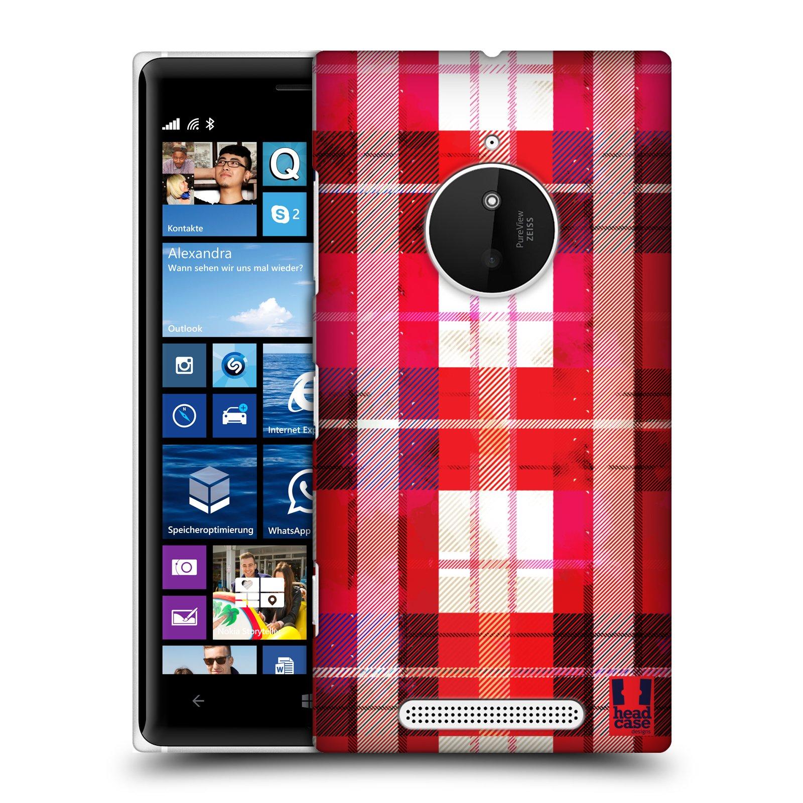 Plastové pouzdro na mobil Nokia Lumia 830 HEAD CASE FLANEL RED (Kryt či obal na mobilní telefon Nokia Lumia 830)