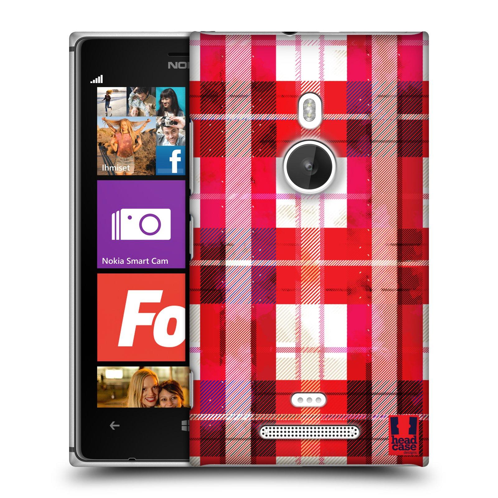 Plastové pouzdro na mobil Nokia Lumia 925 HEAD CASE FLANEL RED (Kryt či obal na mobilní telefon Nokia Lumia 925)