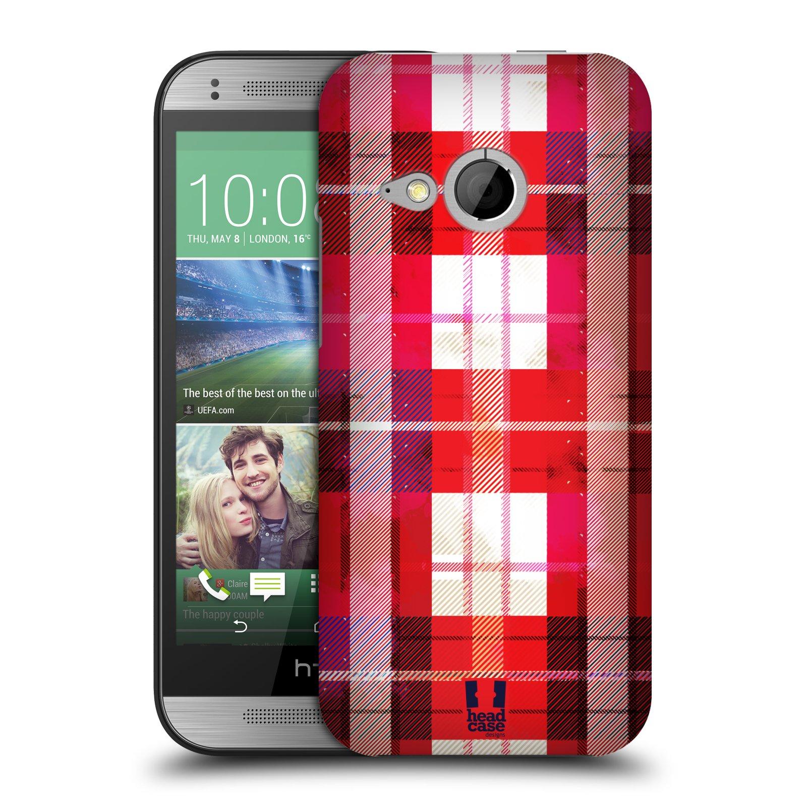 Plastové pouzdro na mobil HTC ONE Mini 2 HEAD CASE FLANEL RED (Kryt či obal na mobilní telefon HTC ONE Mini 2)