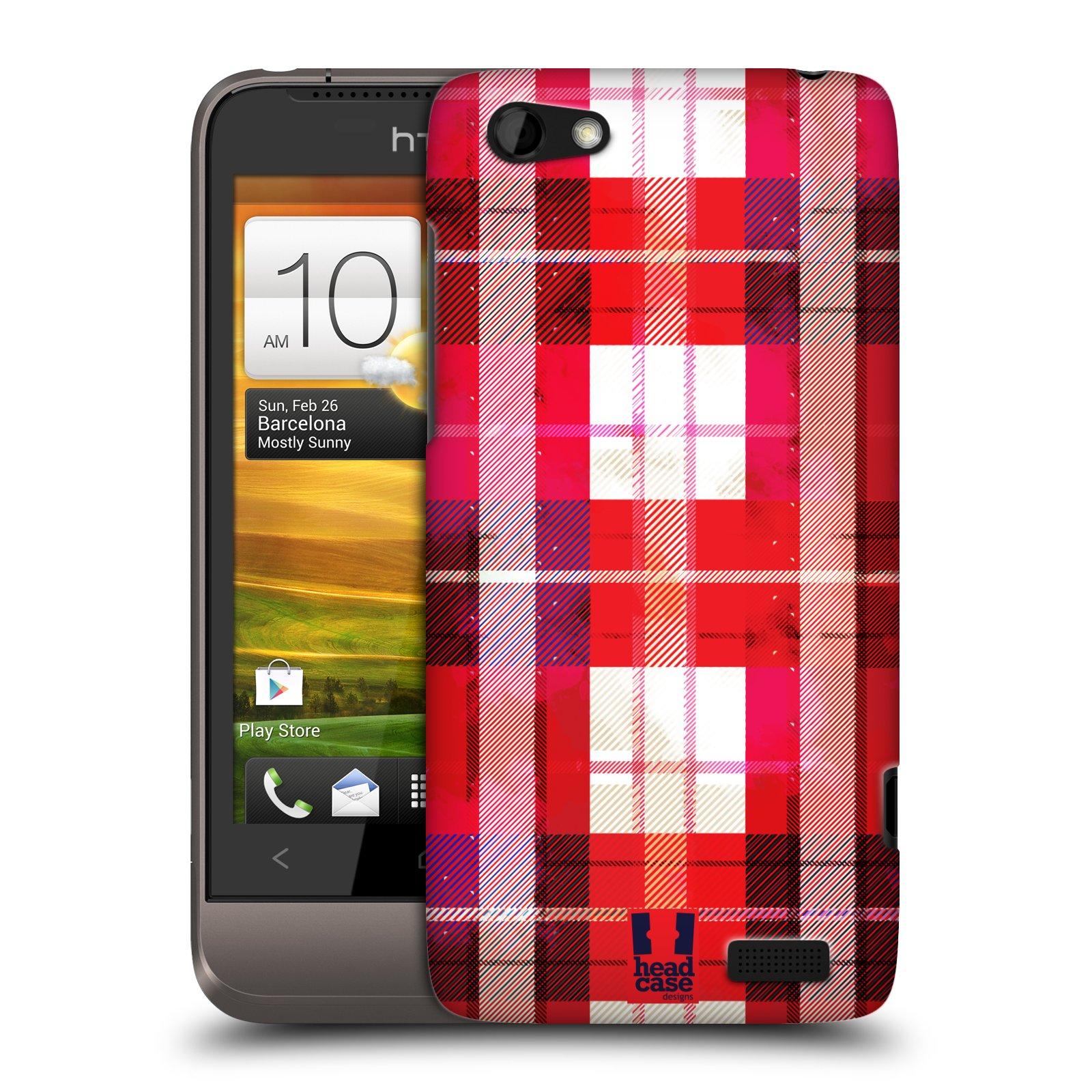 Plastové pouzdro na mobil HTC ONE V HEAD CASE FLANEL RED (Kryt či obal na mobilní telefon HTC ONE V)