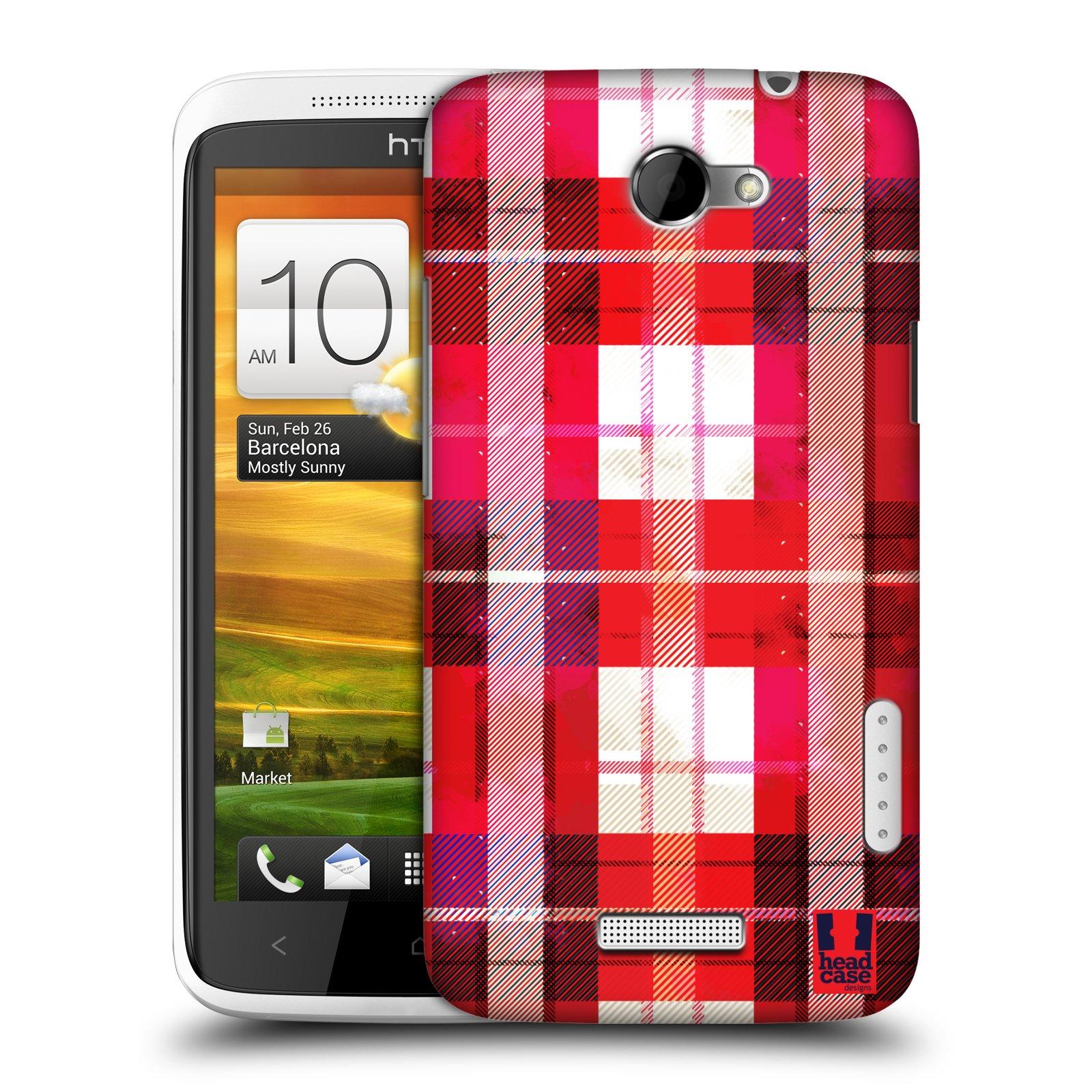 Plastové pouzdro na mobil HTC ONE X HEAD CASE FLANEL RED (Kryt či obal na mobilní telefon HTC ONE X)