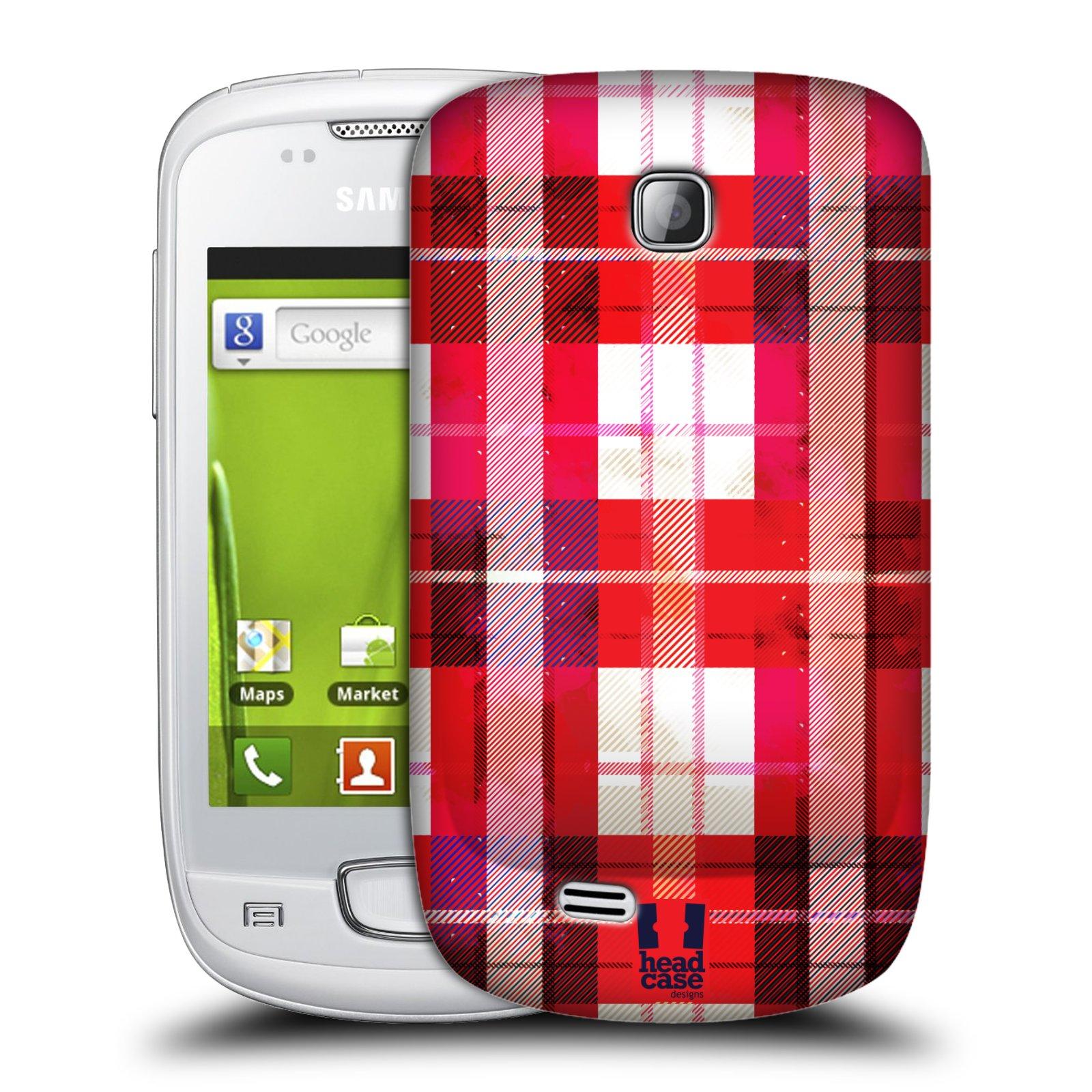 Plastové pouzdro na mobil Samsung Galaxy Mini HEAD CASE FLANEL RED (Kryt či obal na mobilní telefon Samsung Galaxy Mini GT-S5570 / GT-S5570i)