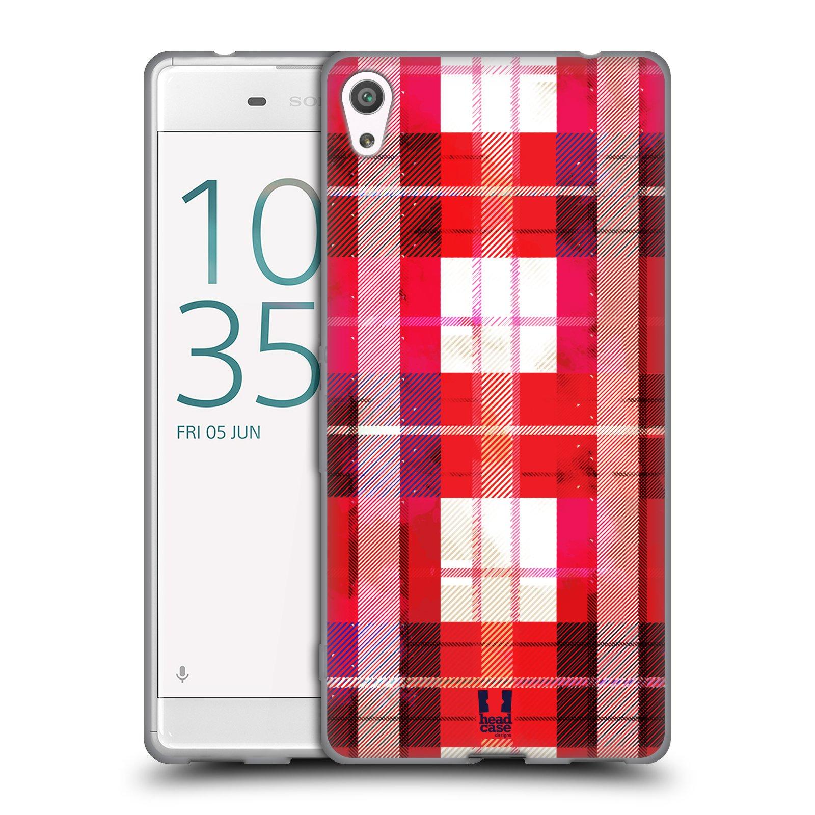Silikonové pouzdro na mobil Sony Xperia XA Ultra HEAD CASE FLANEL RED
