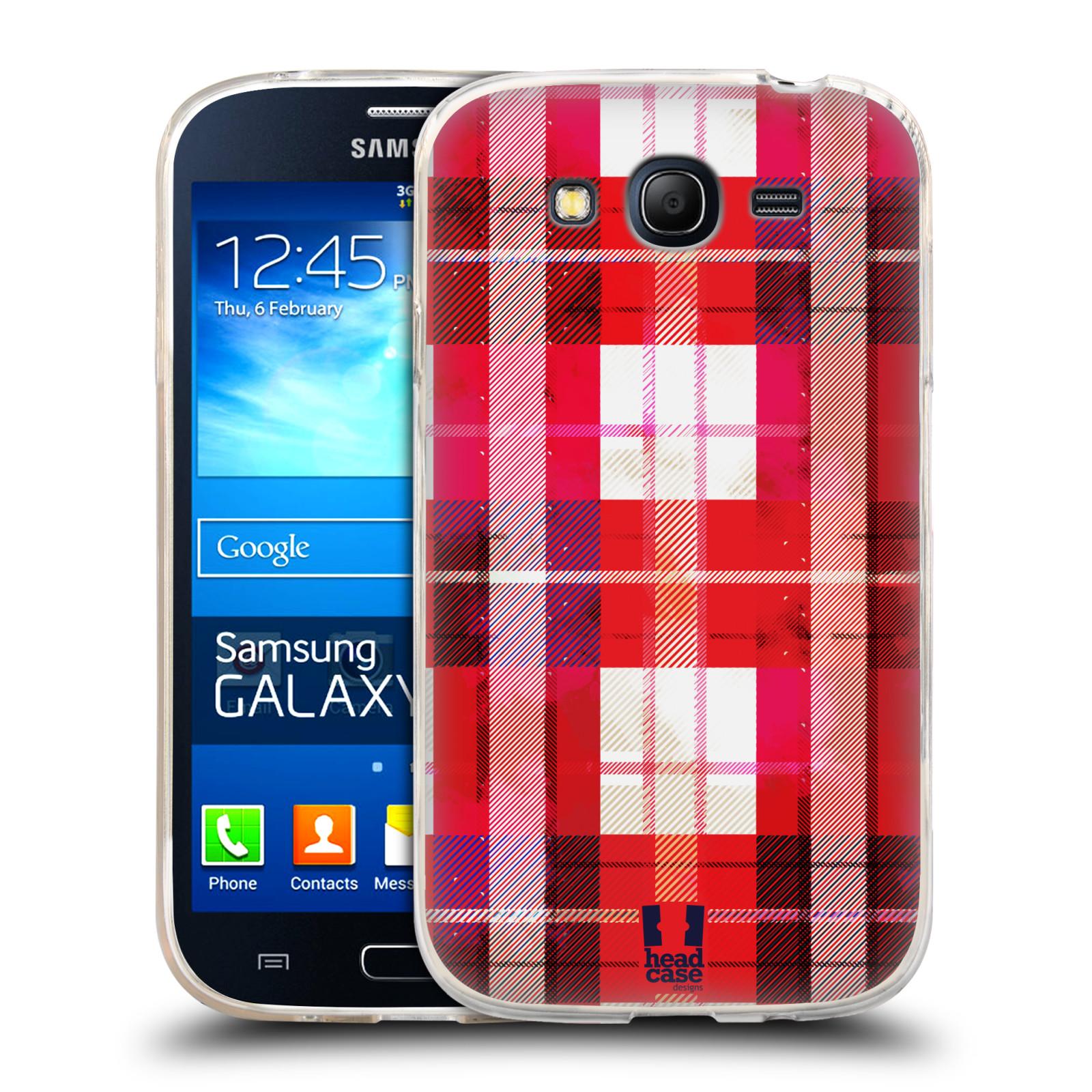 Silikonové pouzdro na mobil Samsung Galaxy Grand Neo HEAD CASE FLANEL RED (Silikonový kryt či obal na mobilní telefon Samsung Galaxy Grand Neo GT-I9060)