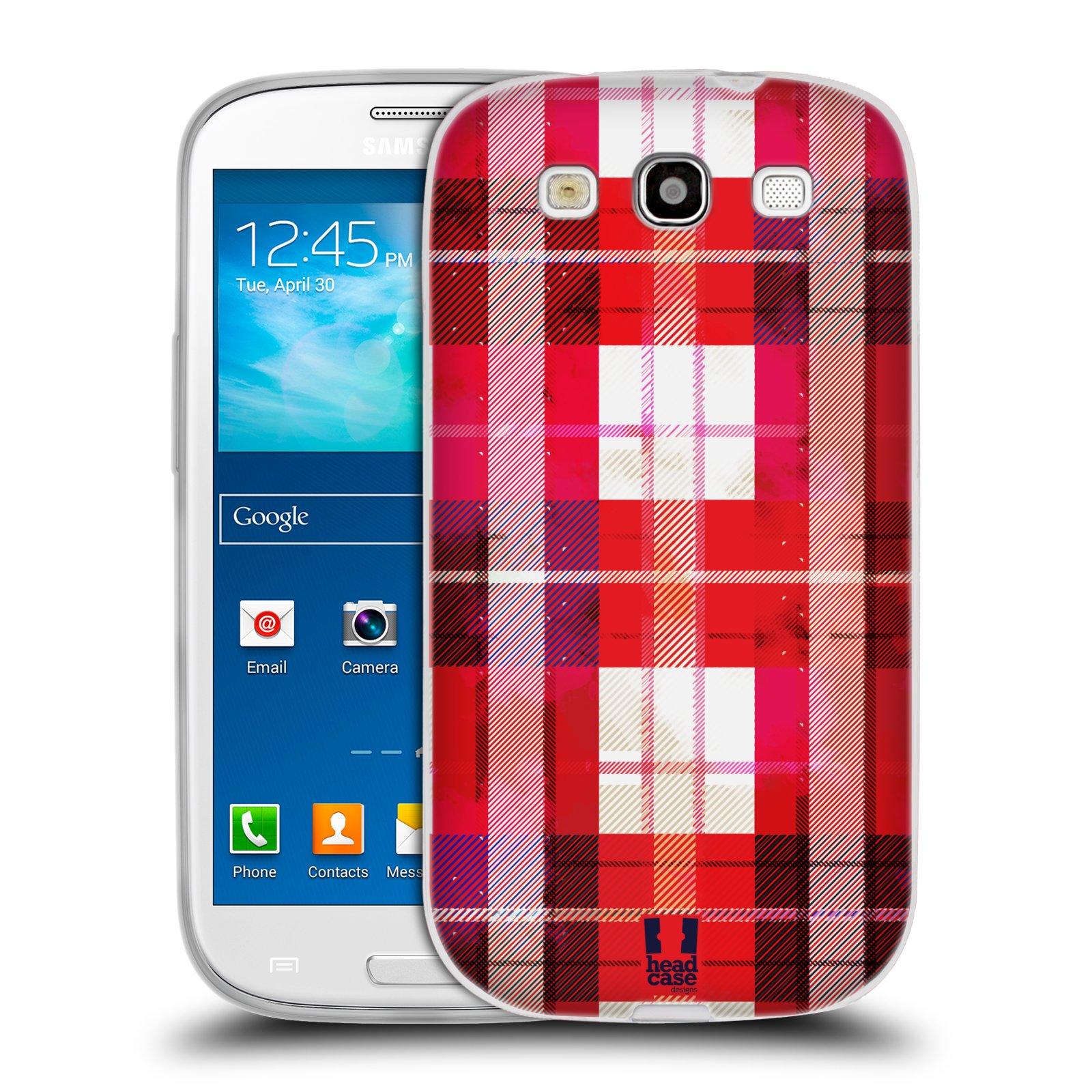 Silikonové pouzdro na mobil Samsung Galaxy S III HEAD CASE FLANEL RED (Silikonový kryt či obal na mobilní telefon Samsung Galaxy S III GT-i9300)