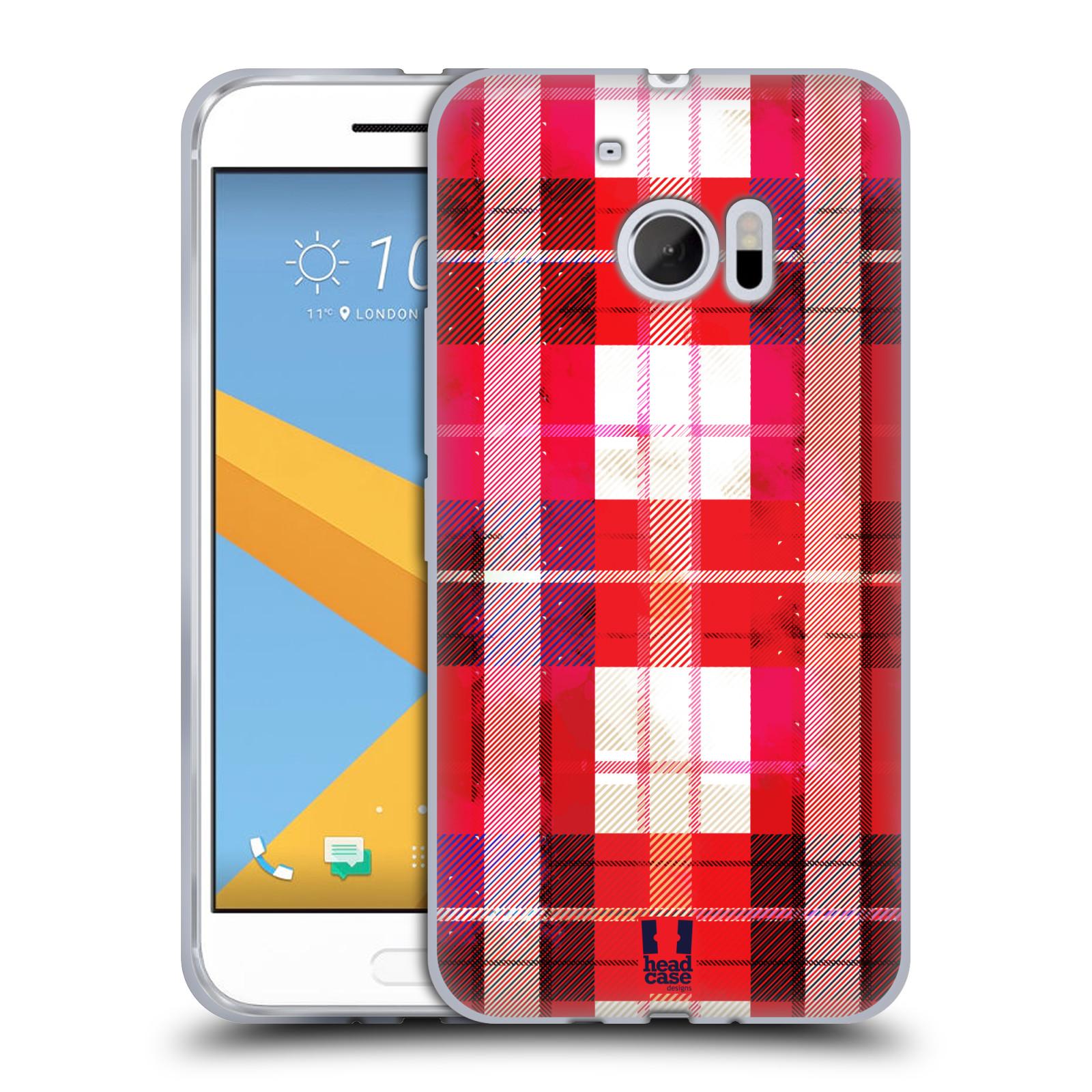 Silikonové pouzdro na mobil HTC 10 HEAD CASE FLANEL RED (Silikonový kryt či obal na mobilní telefon HTC 10 (HTC One M10))
