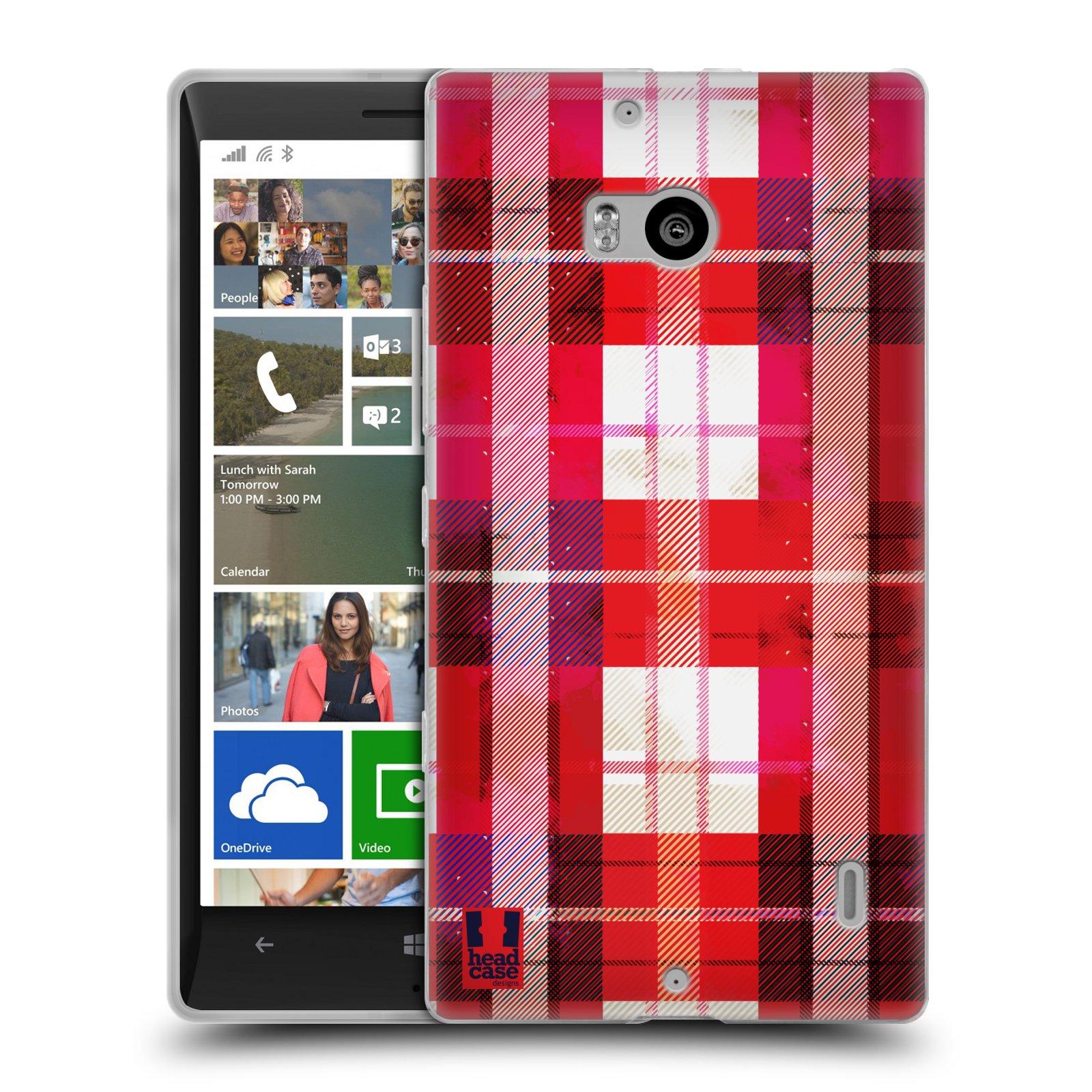 Silikonové pouzdro na mobil Nokia Lumia 930 HEAD CASE FLANEL RED (Silikonový kryt či obal na mobilní telefon Nokia Lumia 930)