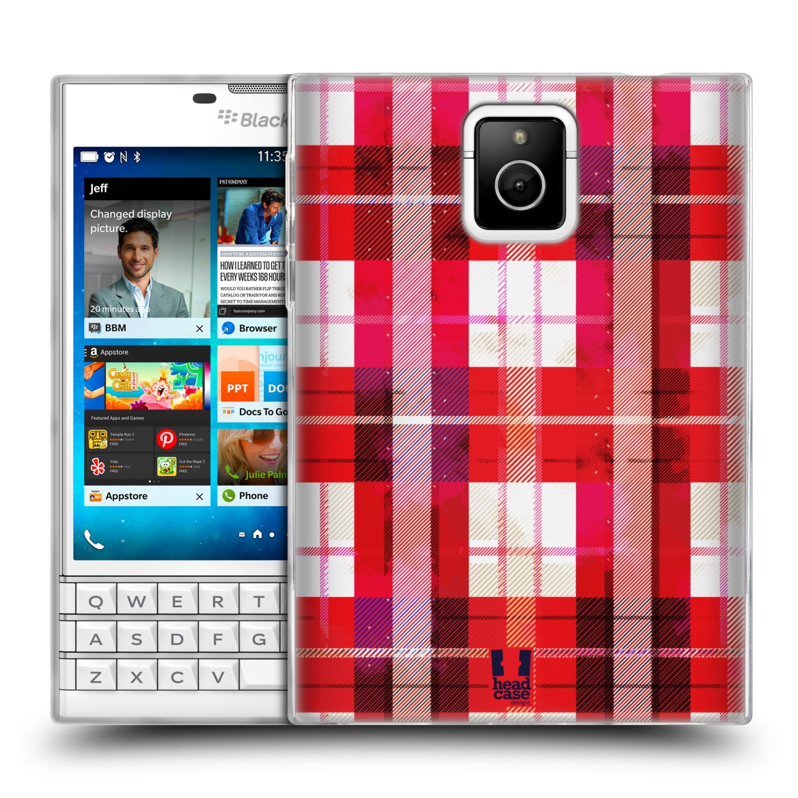 Silikonové pouzdro na mobil Blackberry PASSPORT HEAD CASE FLANEL RED (Silikonový kryt či obal na mobilní telefon Blackberry PASSPORT)