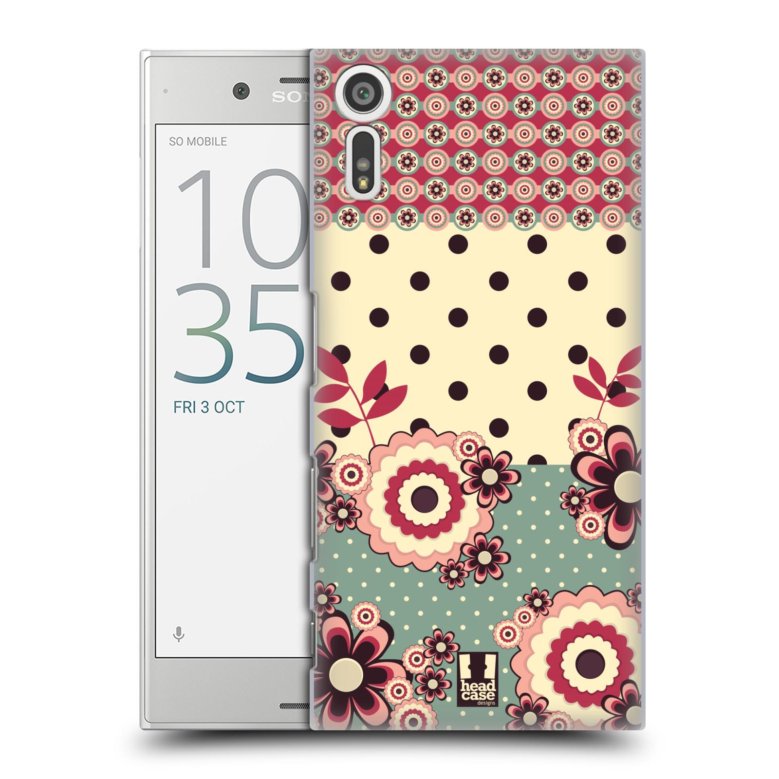 Plastové pouzdro na mobil Sony Xperia XZ - Head Case KVÍTKA PINK CREAM (Plastový kryt či obal na mobilní telefon Sony Xperia XZ F8331 / Sony Xperia XZ Dual F8332)