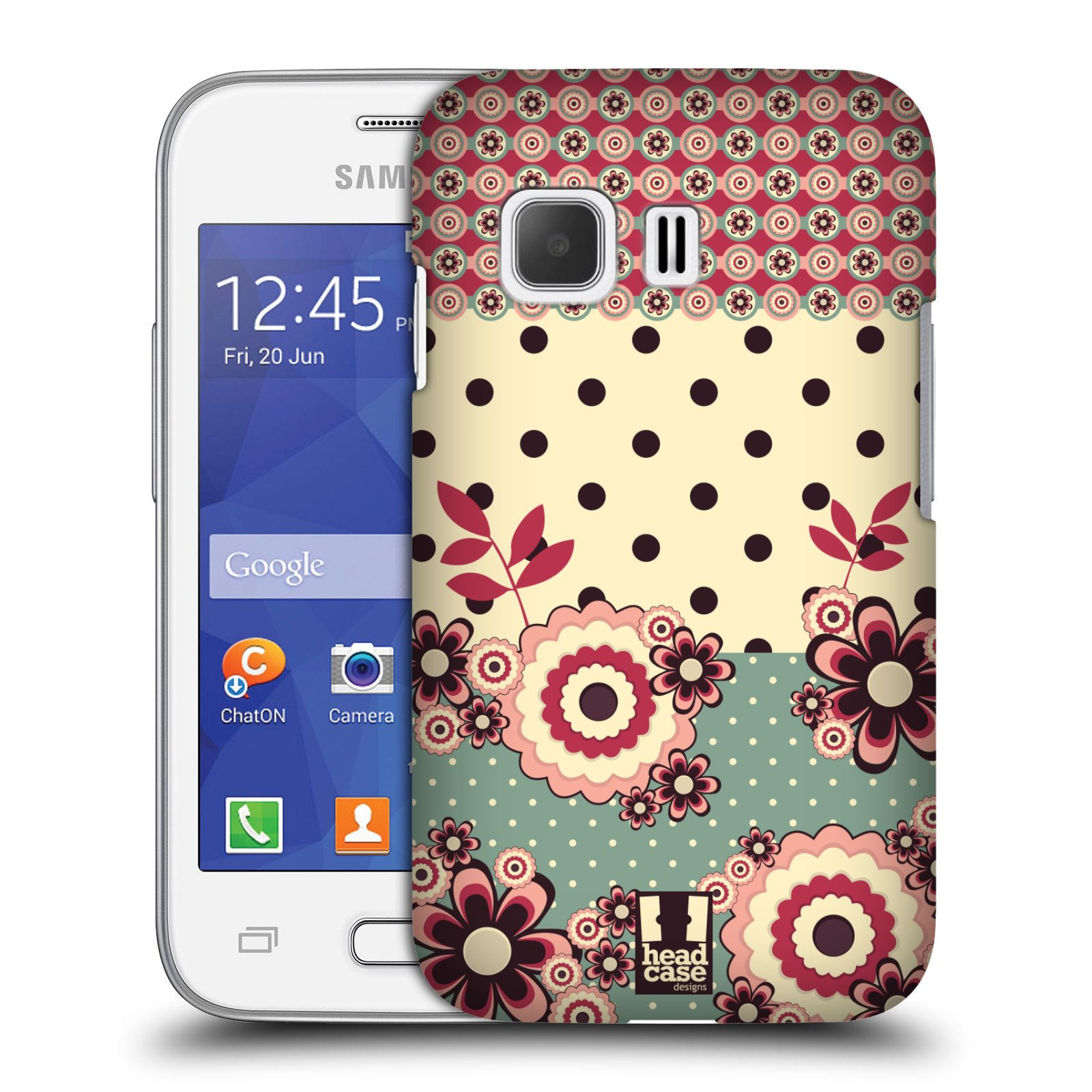 Plastové pouzdro na mobil Samsung Galaxy Young 2 HEAD CASE KVÍTKA PINK CREAM