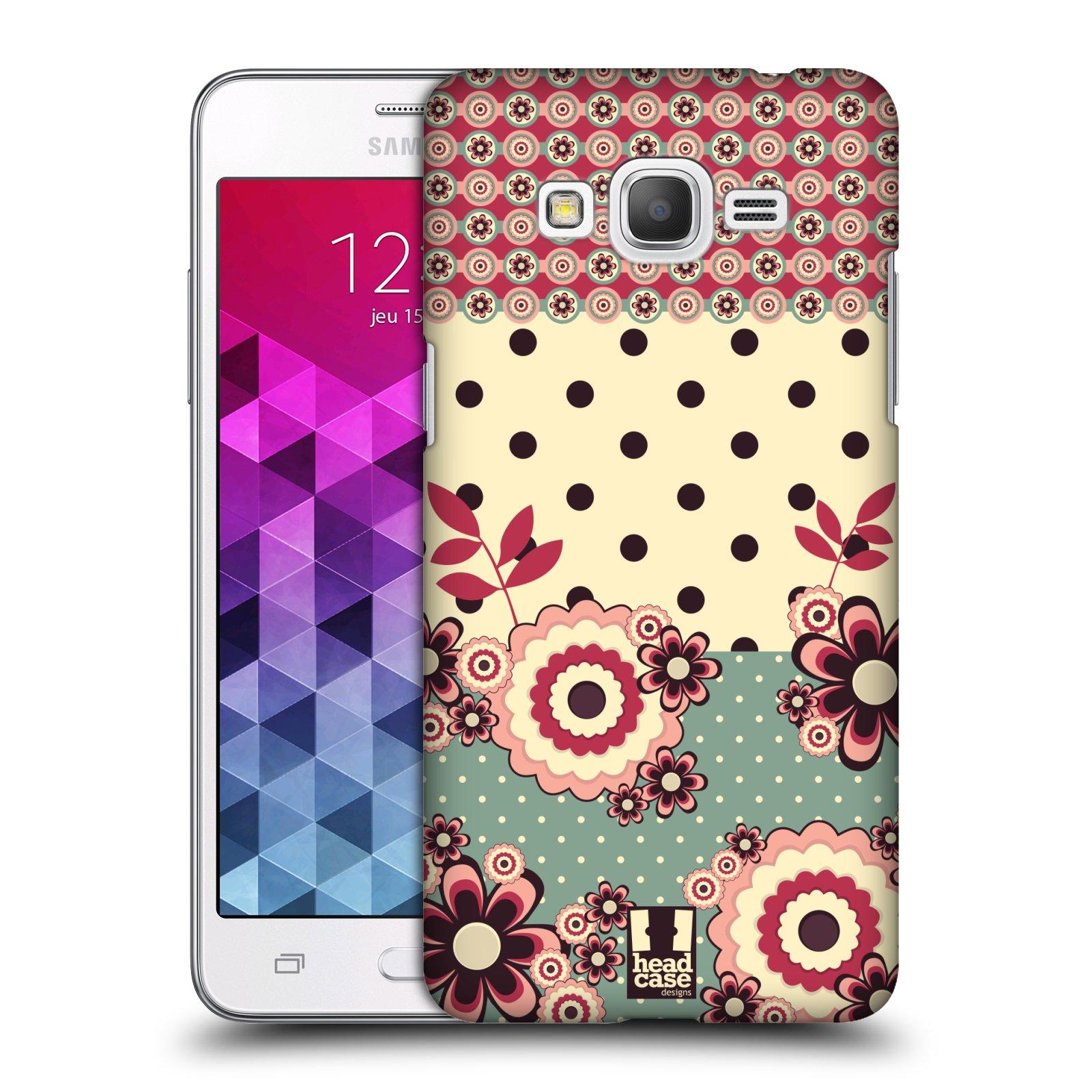 Plastové pouzdro na mobil Samsung Galaxy Grand Prime HEAD CASE KVÍTKA PINK CREAM