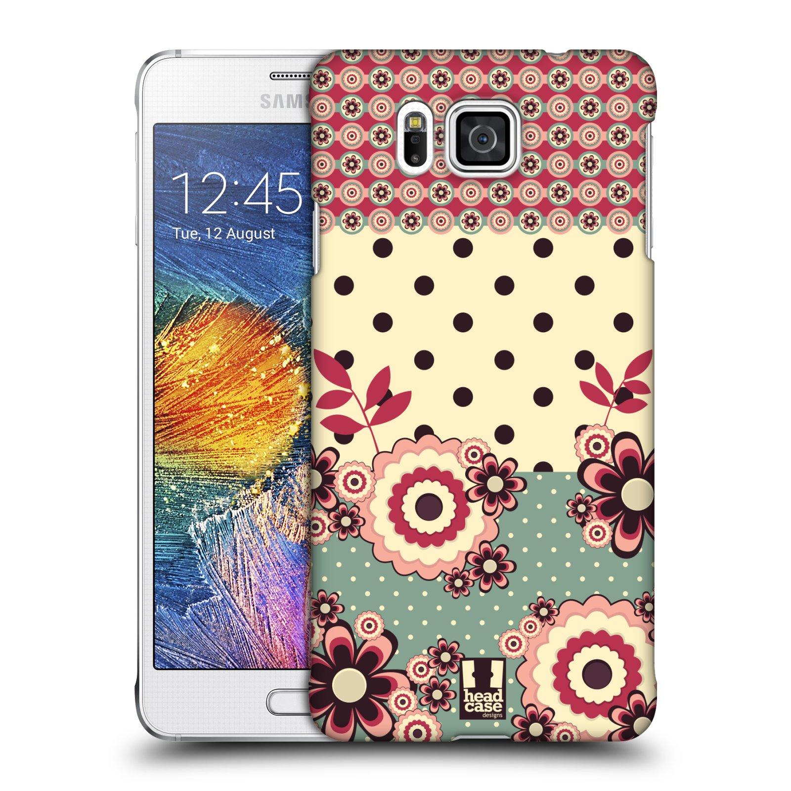 Plastové pouzdro na mobil Samsung Galaxy Alpha HEAD CASE KVÍTKA PINK CREAM