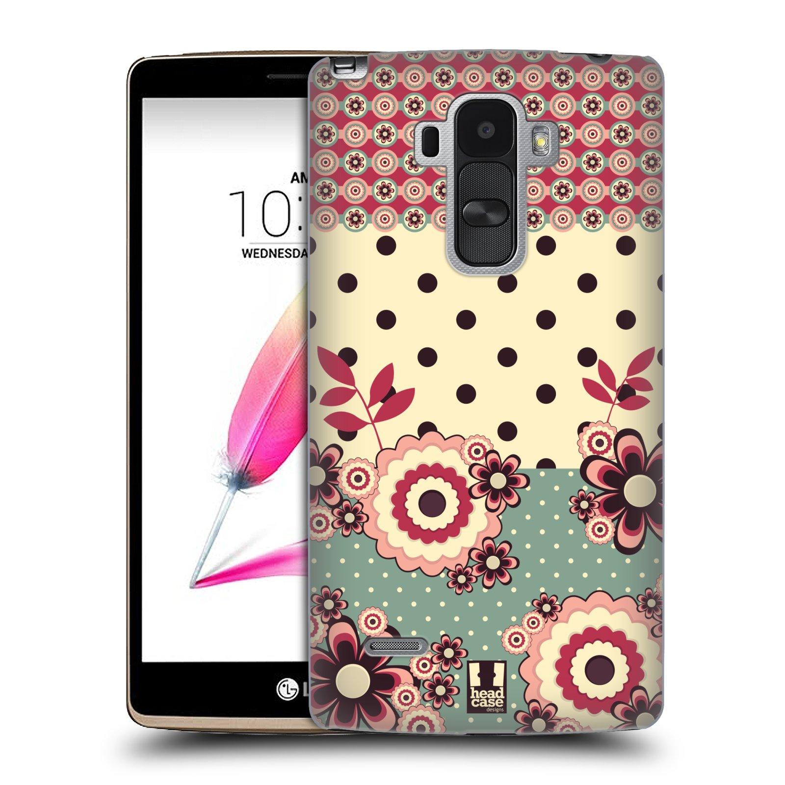 Plastové pouzdro na mobil LG G4 Stylus HEAD CASE KVÍTKA PINK CREAM (Kryt či obal na mobilní telefon LG G4 Stylus H635)
