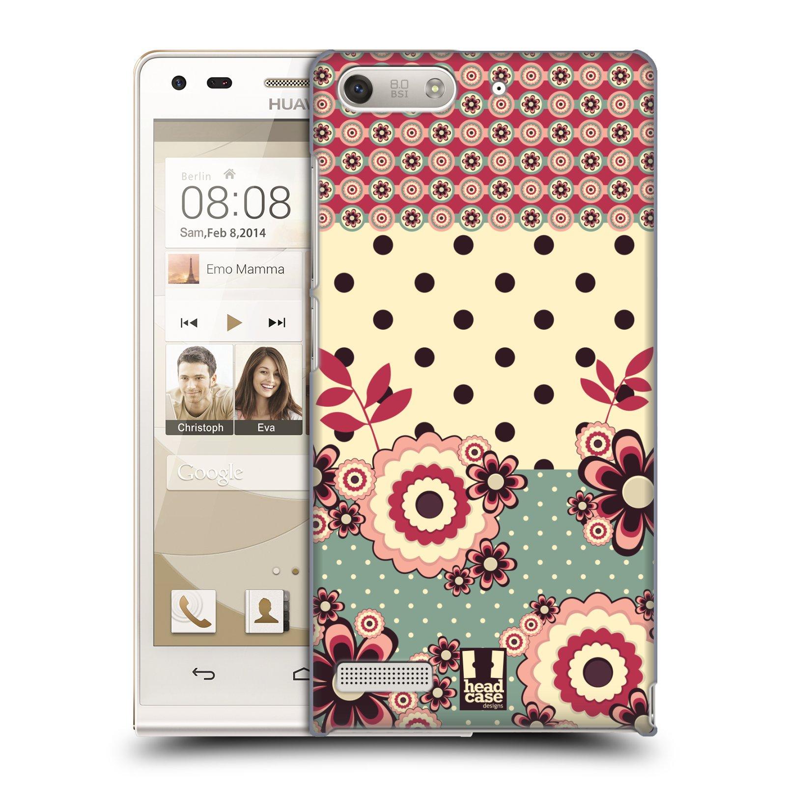 Plastové pouzdro na mobil Huawei Ascend G6 HEAD CASE KVÍTKA PINK CREAM (Kryt či obal na mobilní telefon Huawei Ascend G6 bez LTE)