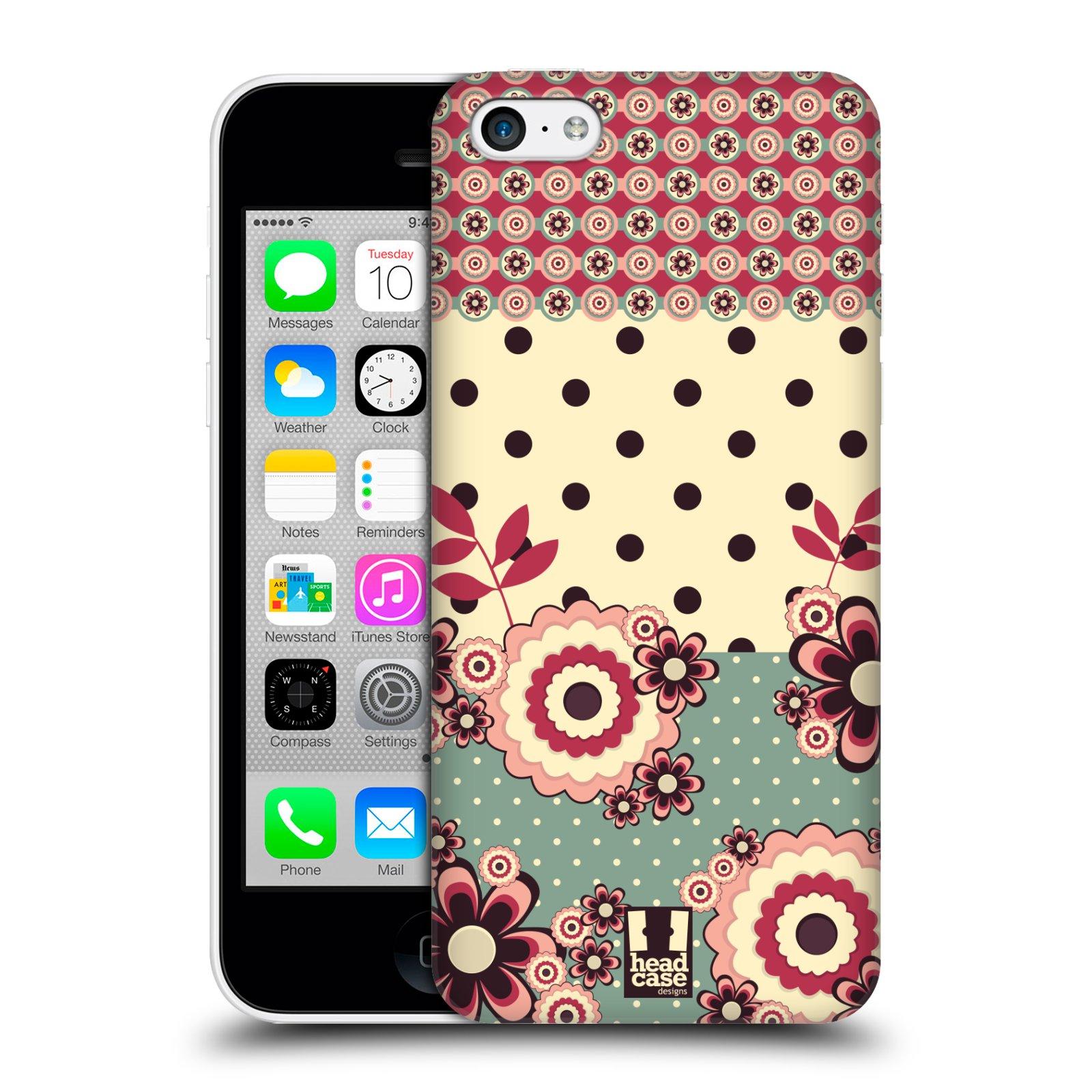 Plastové pouzdro na mobil Apple iPhone 5C HEAD CASE KVÍTKA PINK CREAM (Kryt či obal na mobilní telefon Apple iPhone 5C)